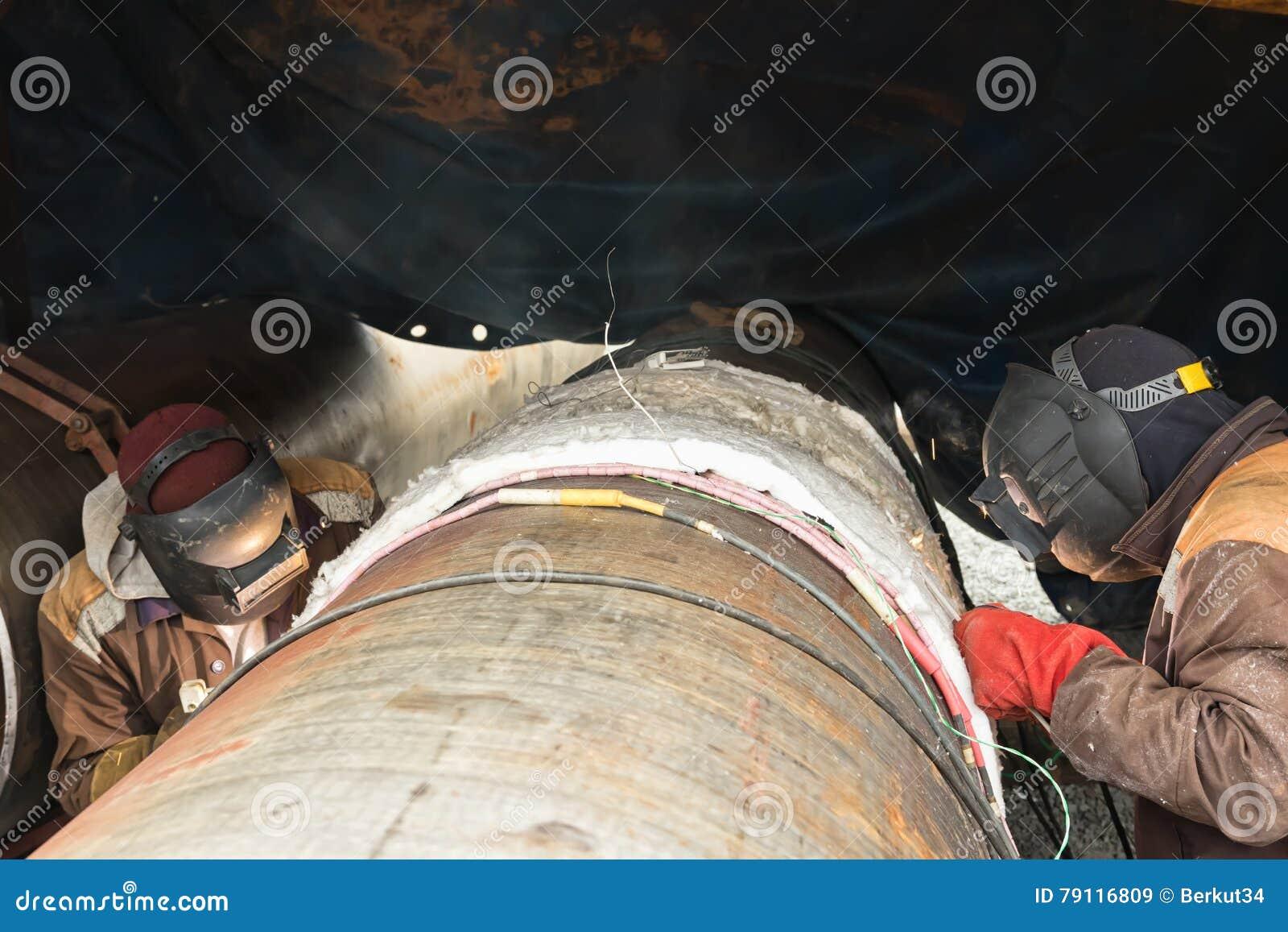 焊接与前和伴随热化