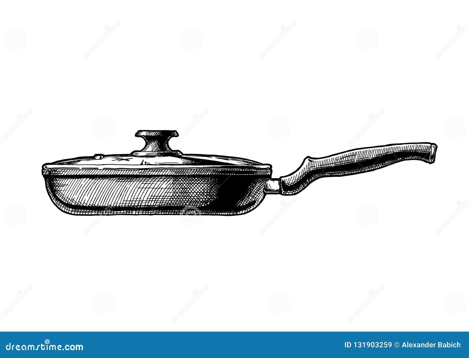 煎锅的例证