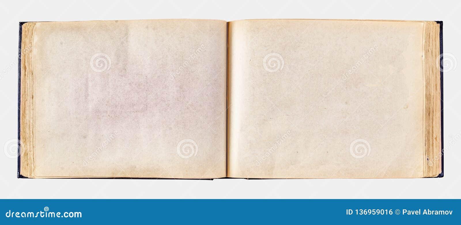 照片的老被染黄的相册