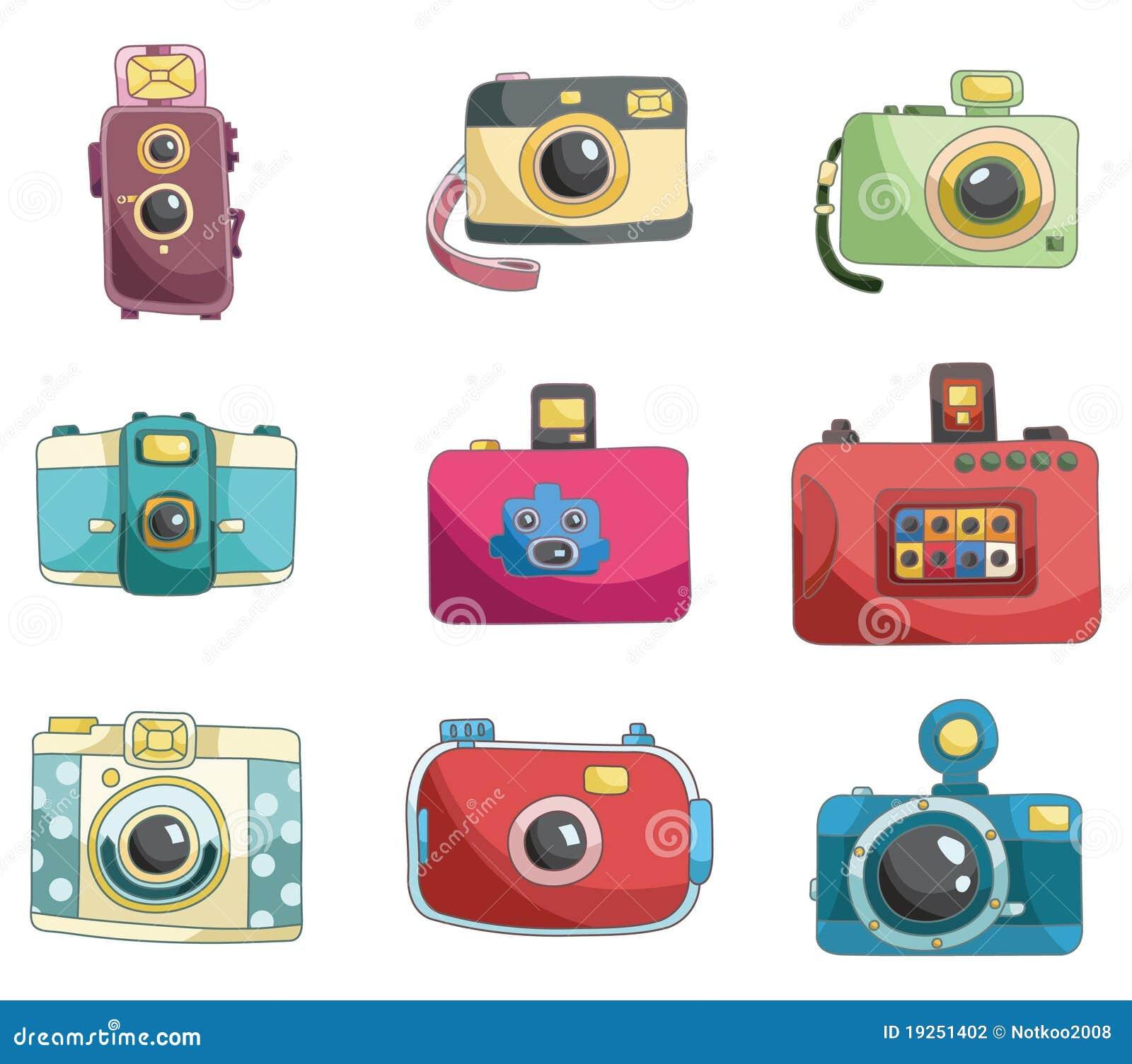 照相机动画片图画图标.