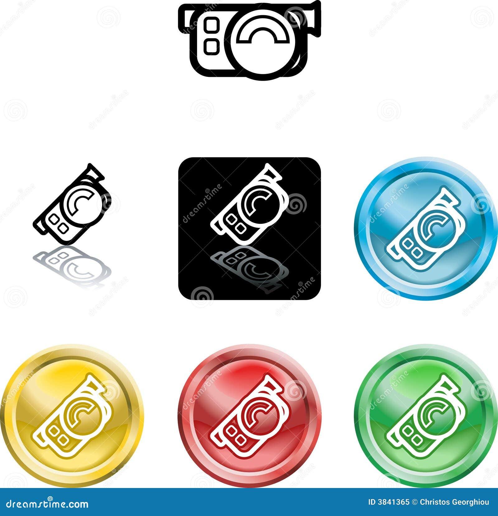 照相机图标电影符号