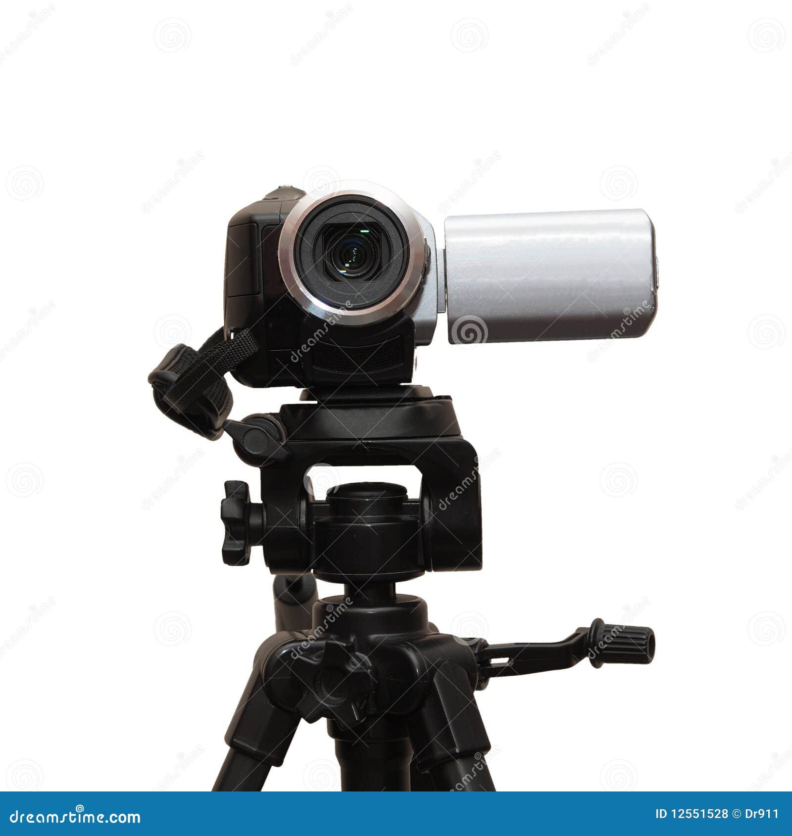照相机查出的三脚架视频白色.