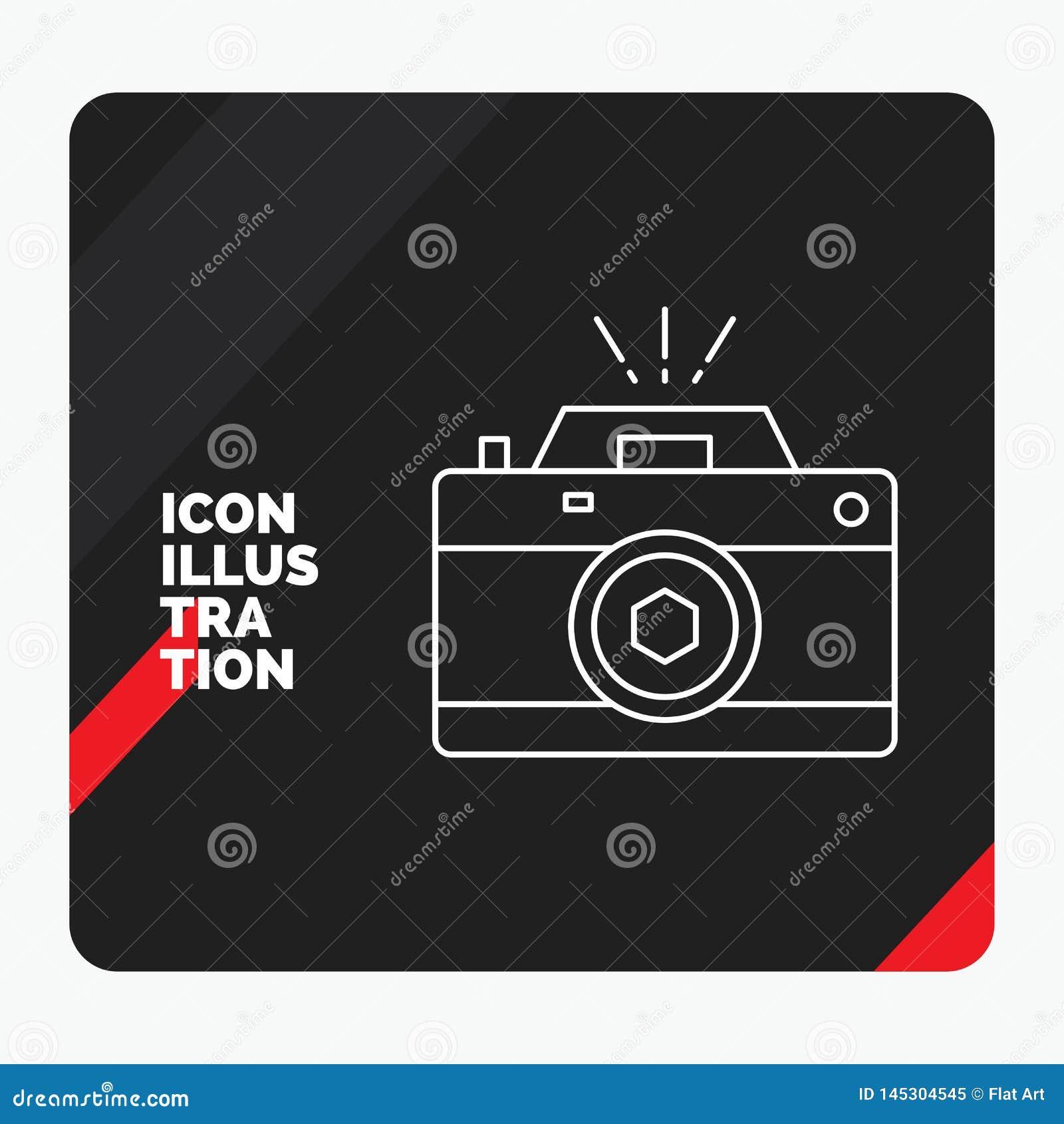 照相机的红色和黑创造性的介绍背景,摄影,捕获,照片,开口线象