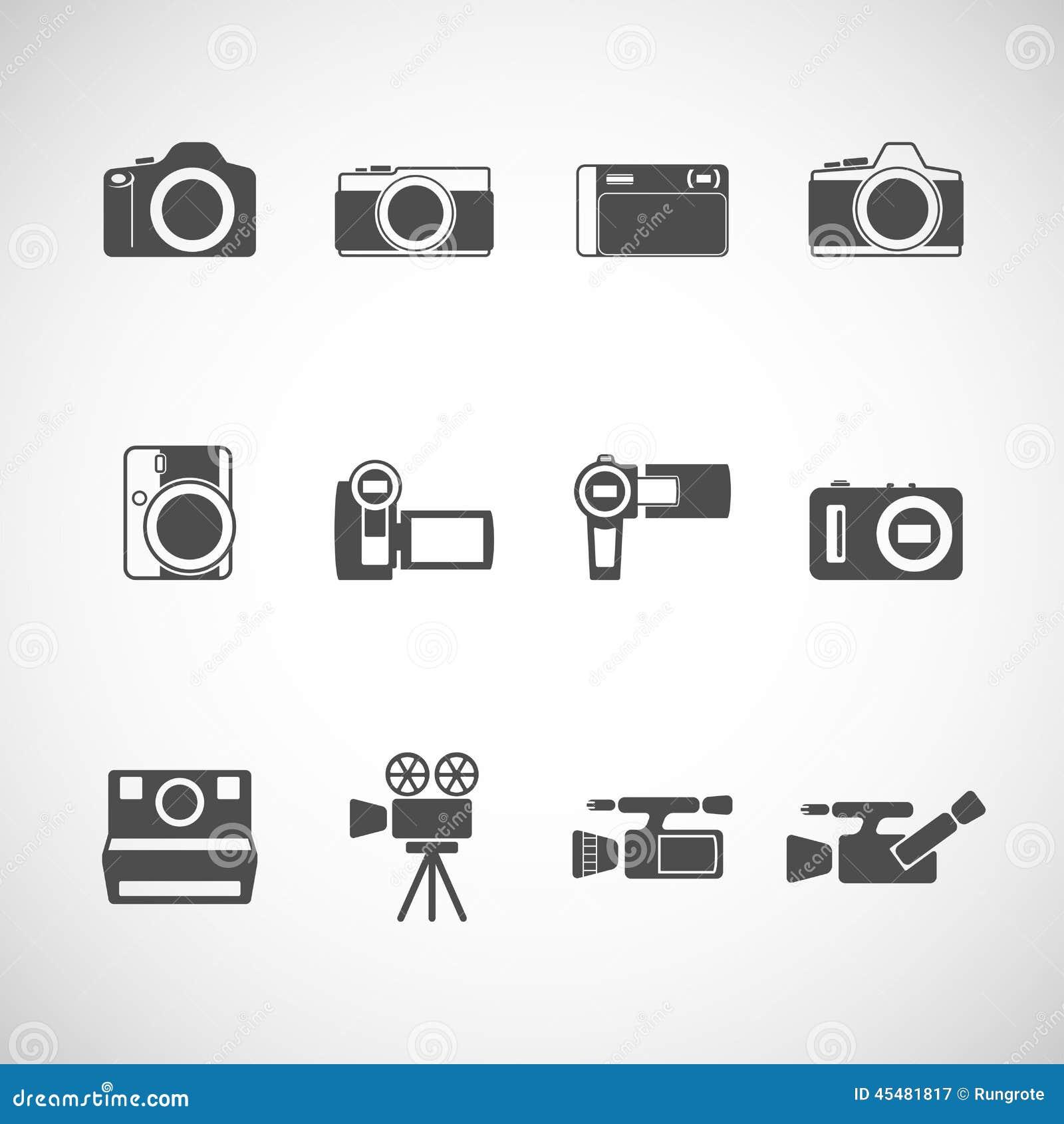 照相机象集合,传染媒介eps10