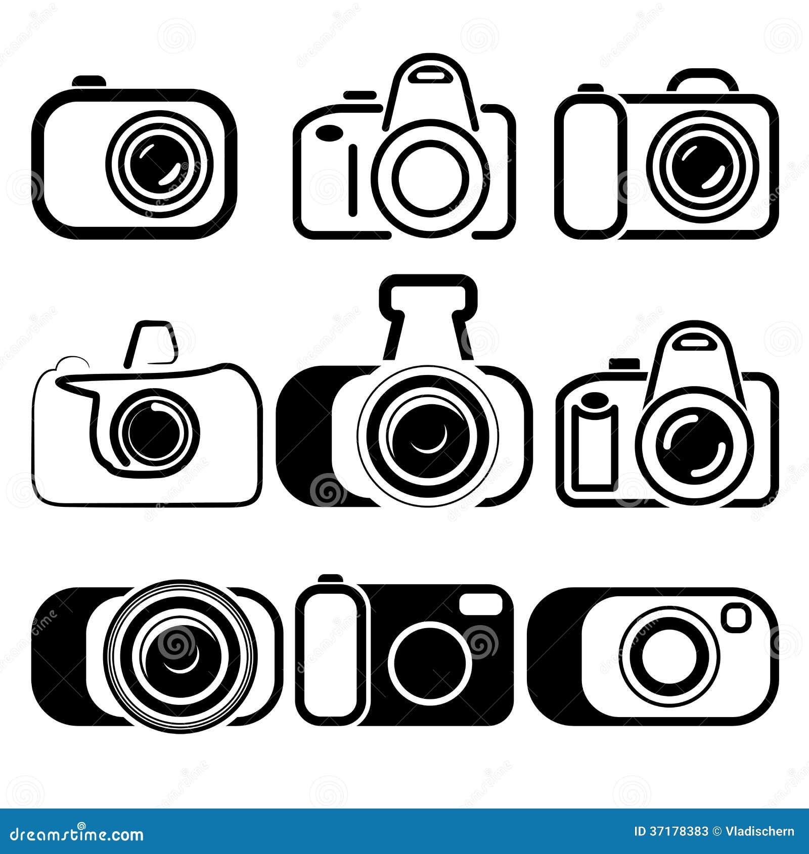 照相机集合符号例证.这是eps8格式文件.
