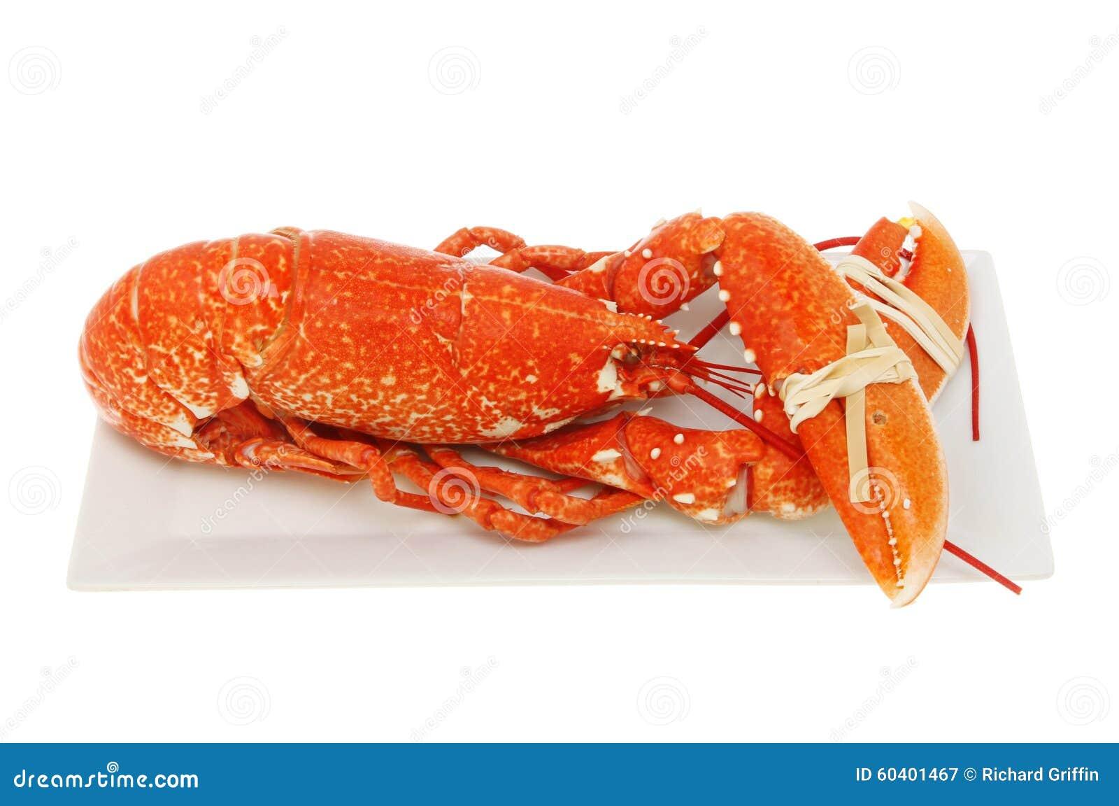 煮熟的龙虾