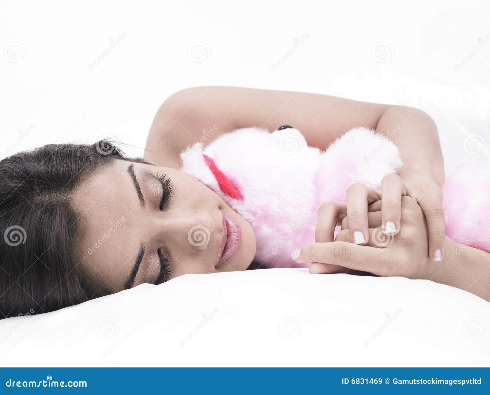 熊女孩她休眠女用连杉衬裤