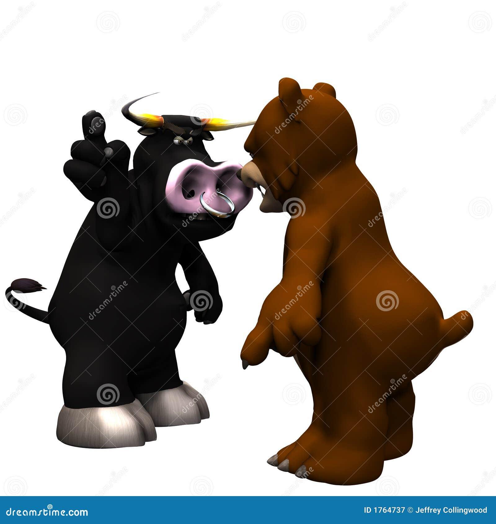 指向表示白色的恼怒背景熊褐色下来公牛黑暗灰色咆哮查出的大市场.图片