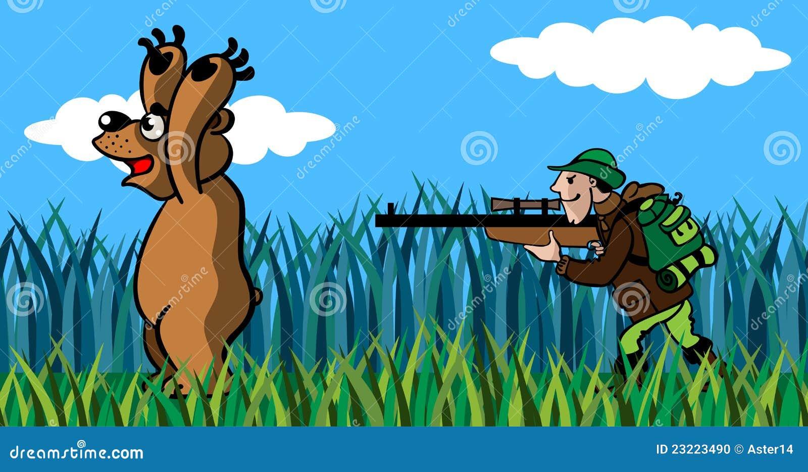 目标熊大动画片枪猎人.图片