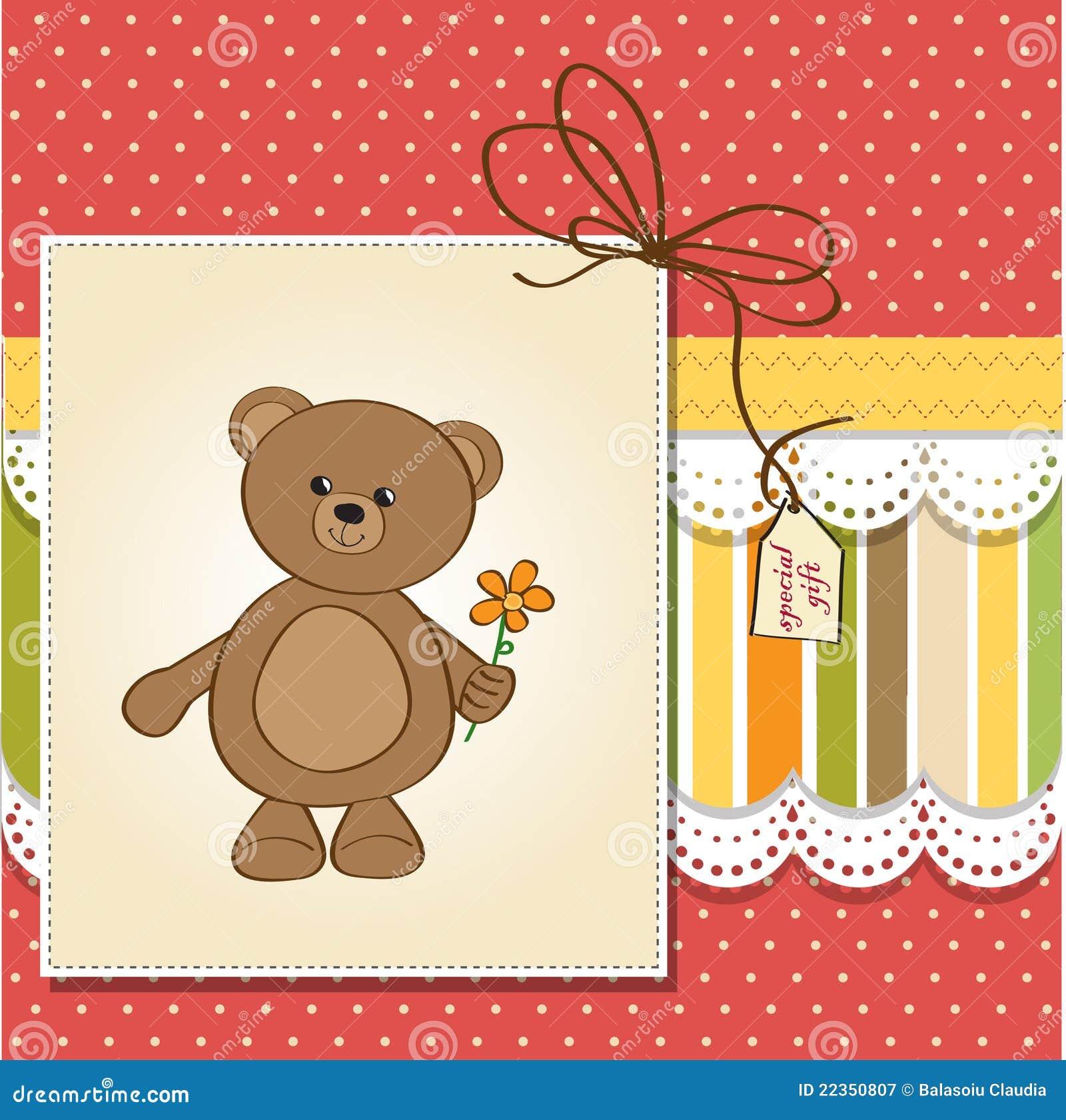 熊生日贺卡愉快的女用连杉衬裤