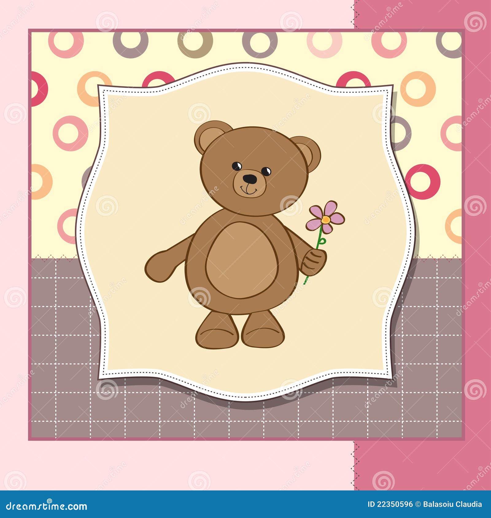 熊生日贺卡花愉快的女用连杉衬裤