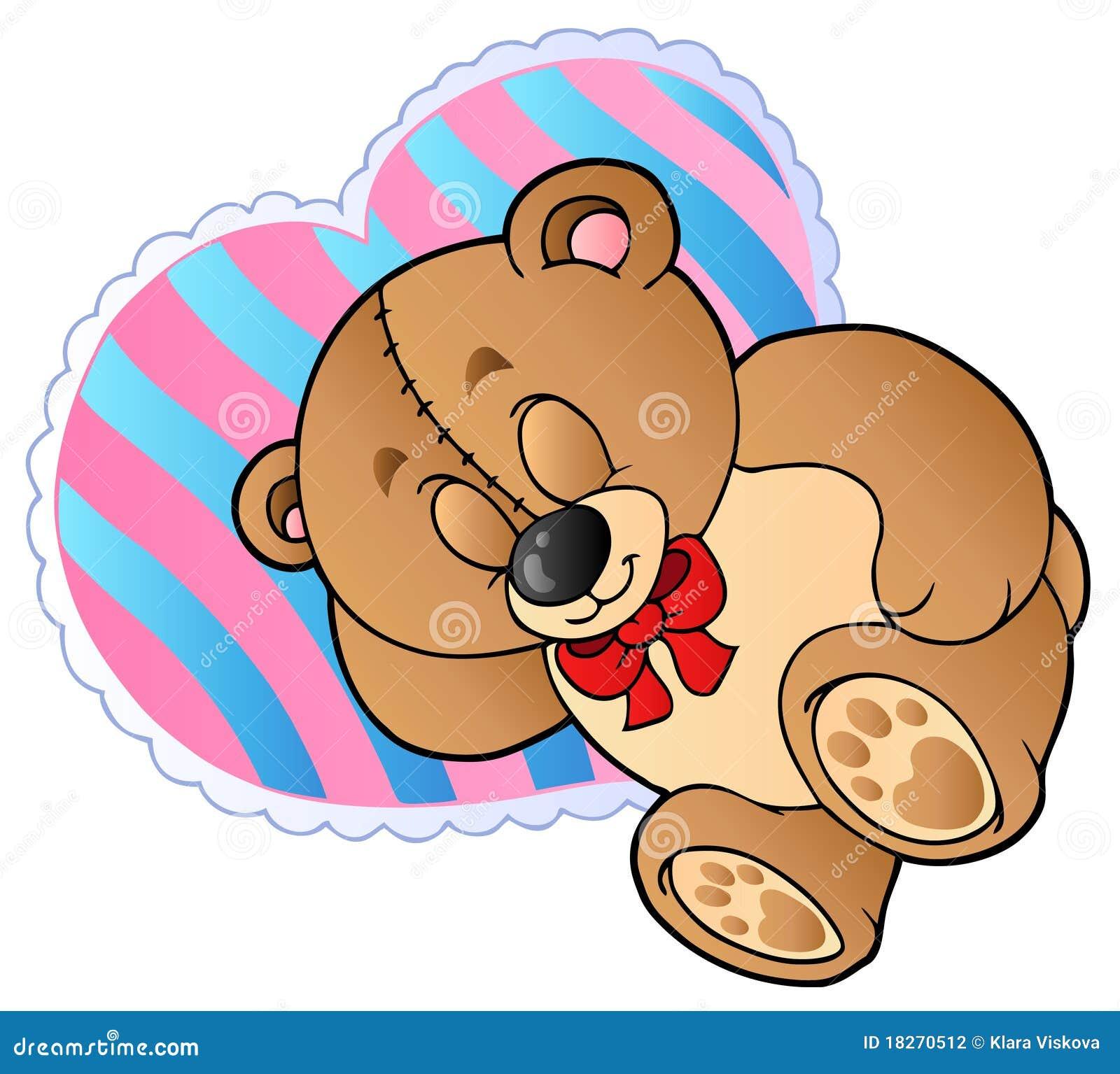 熊重点枕头形状的女用连杉衬裤