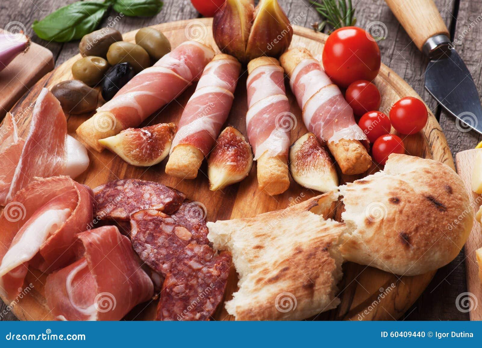 熏火腿二帕尔马和其他意大利食物