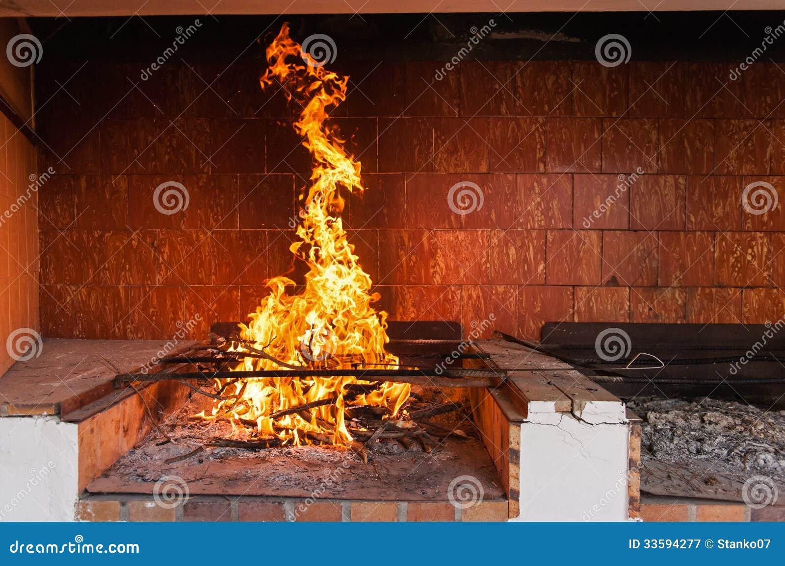 燃烧的壁炉