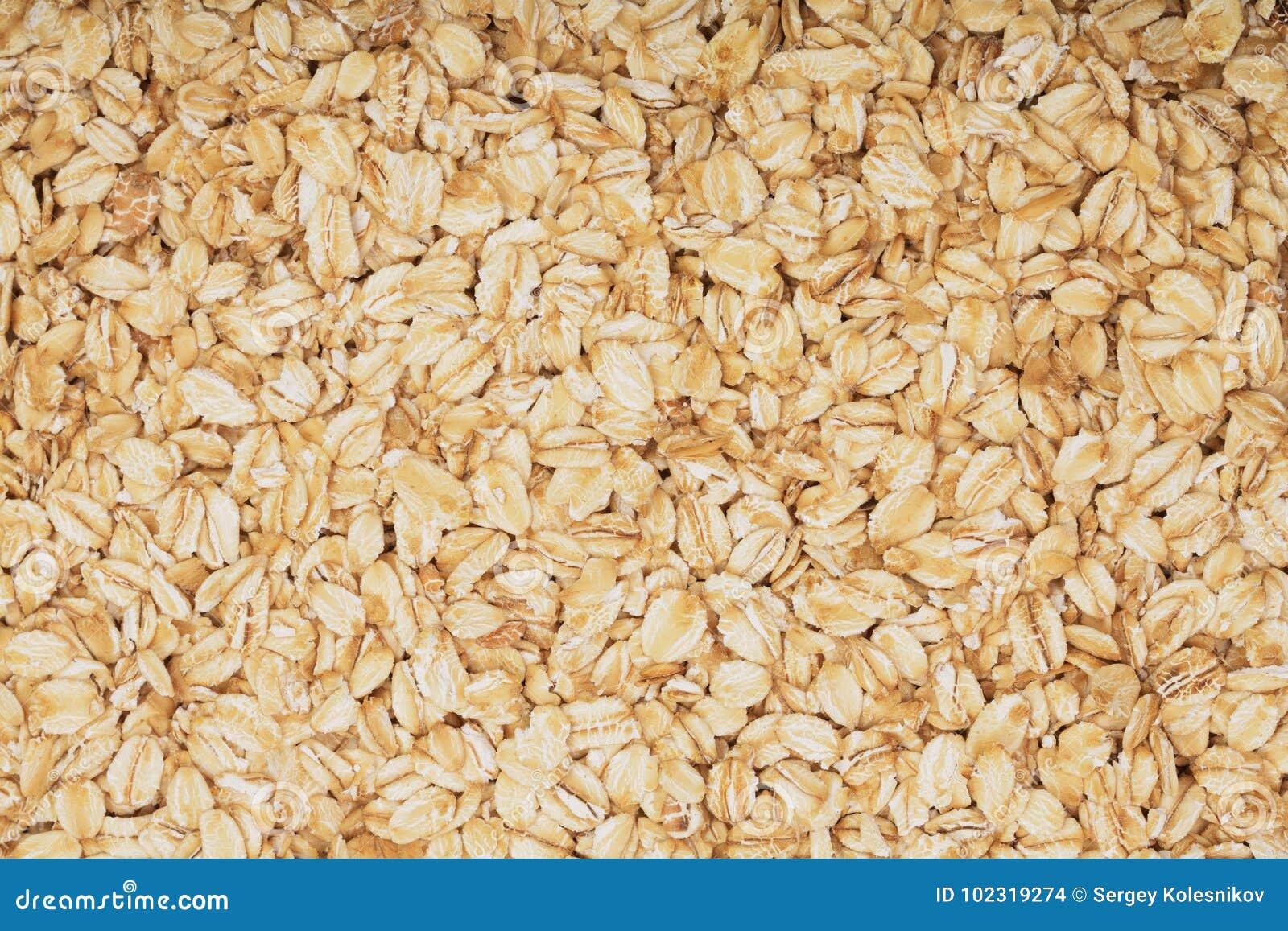 燕麦粥纹理作为背景 顶视图