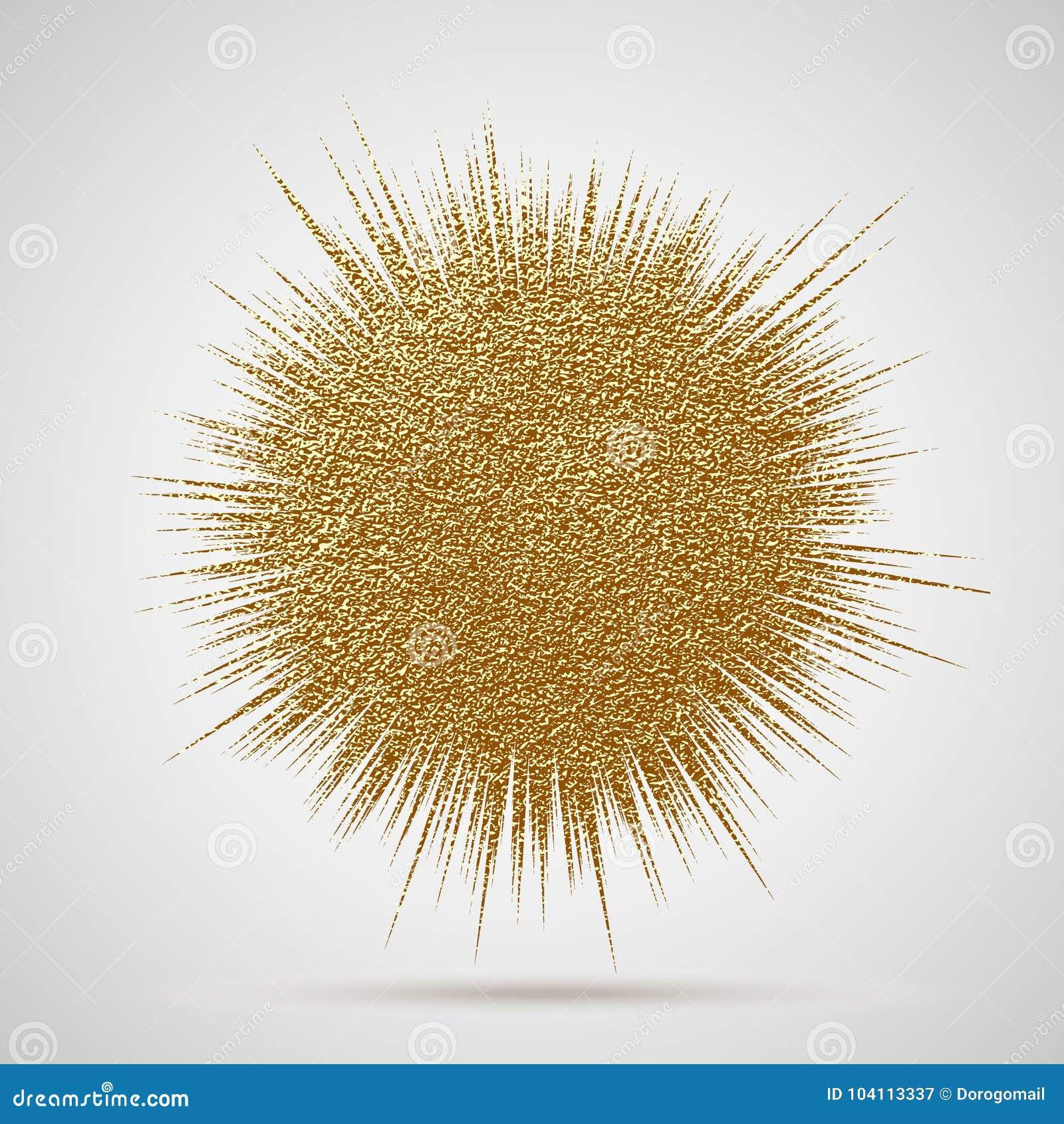 爆炸传染媒介例证 太阳光芒或星破裂了与闪闪发光的元素 金子圣诞节元素灿烂光辉闪烁 光线