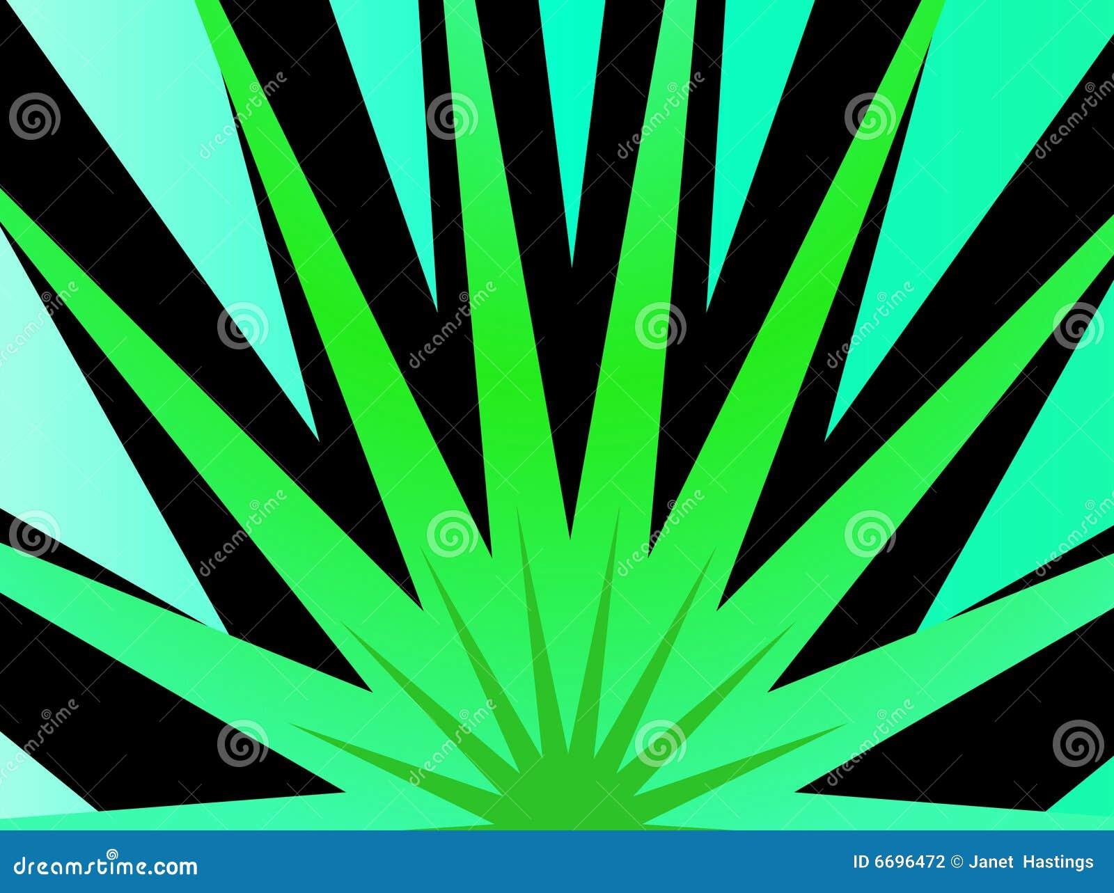 爆炸绿色星形