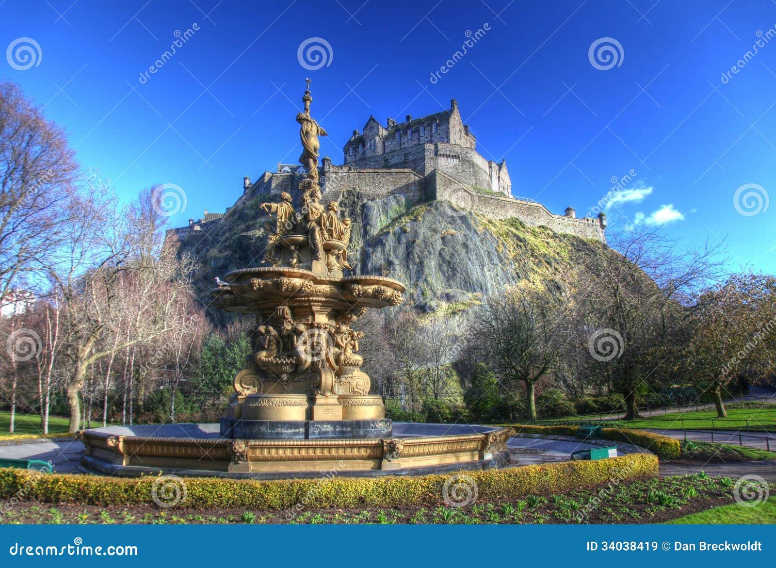 爱丁堡城堡在苏格兰