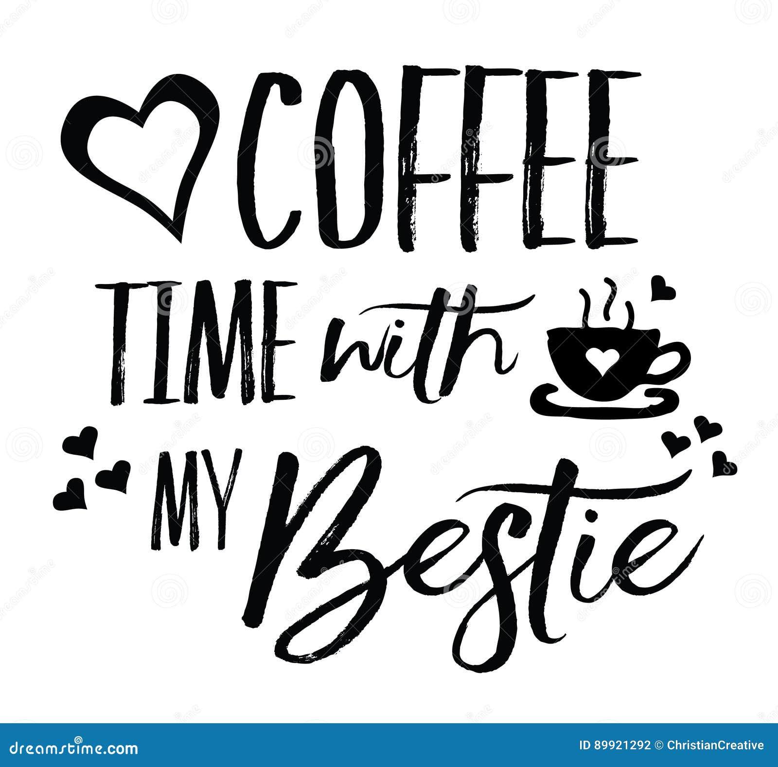 爱与我的Bestie的咖啡时间