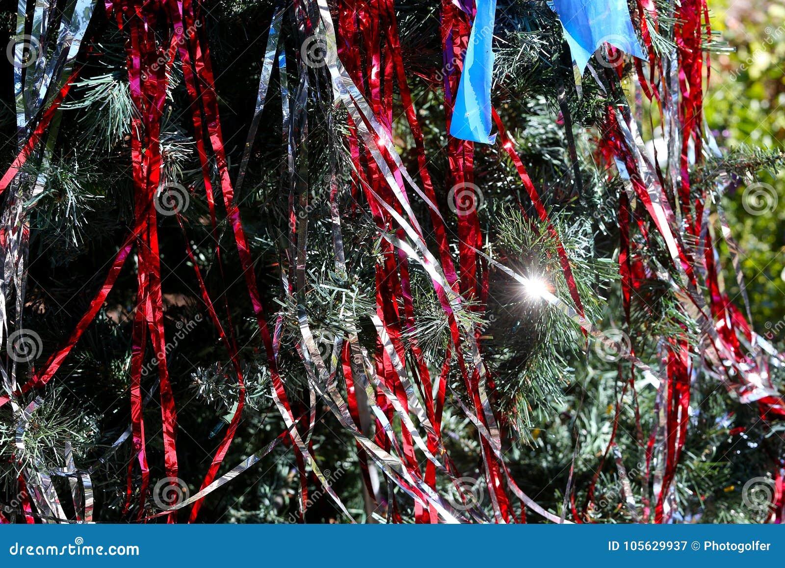 爱国圣诞树在迈尔斯堡,佛罗里达,美国中