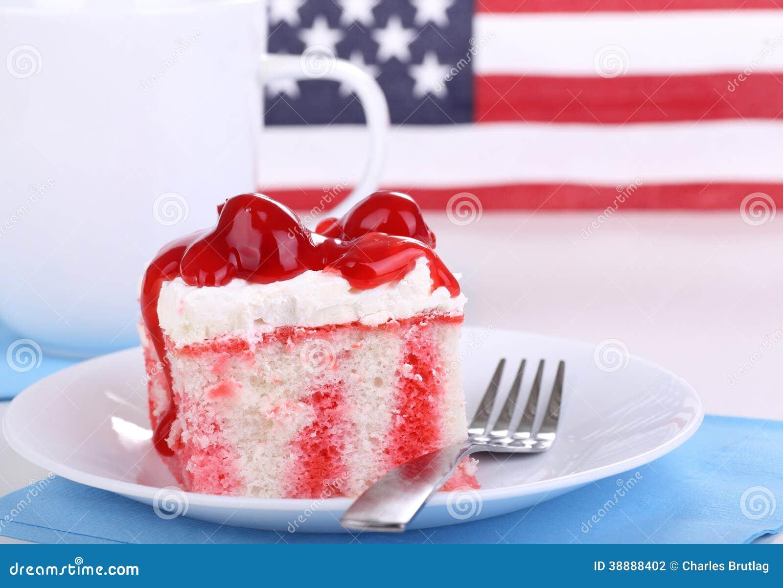 爱国樱桃蛋糕