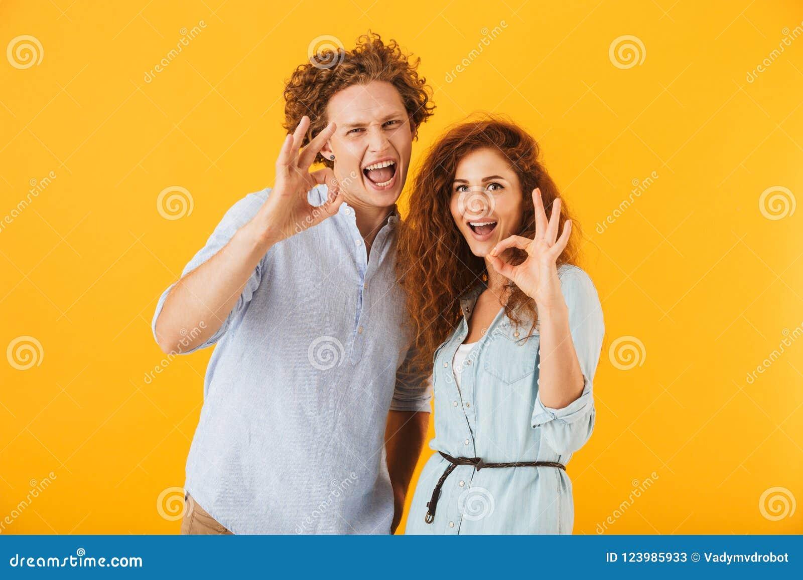 爱夫妇的激动的朋友