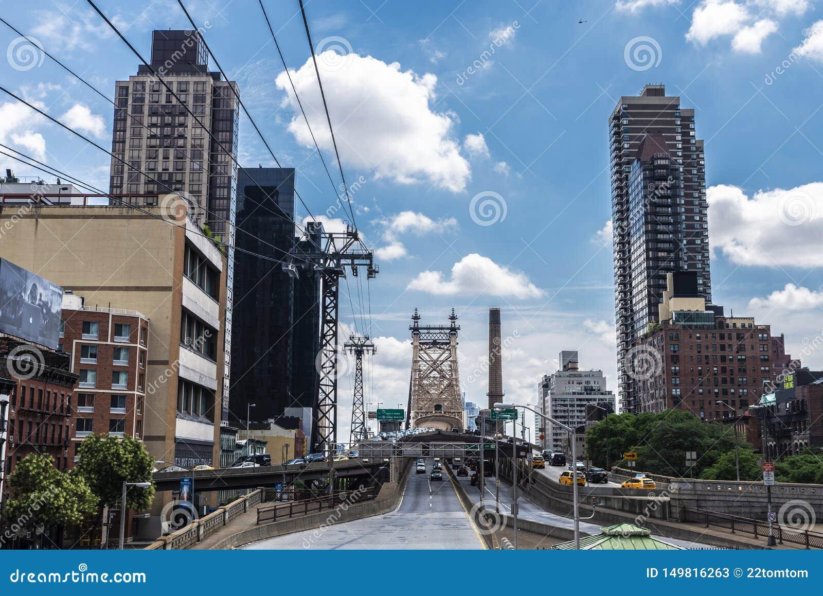 爱德科克皇后区大桥在曼哈顿,纽约,美国