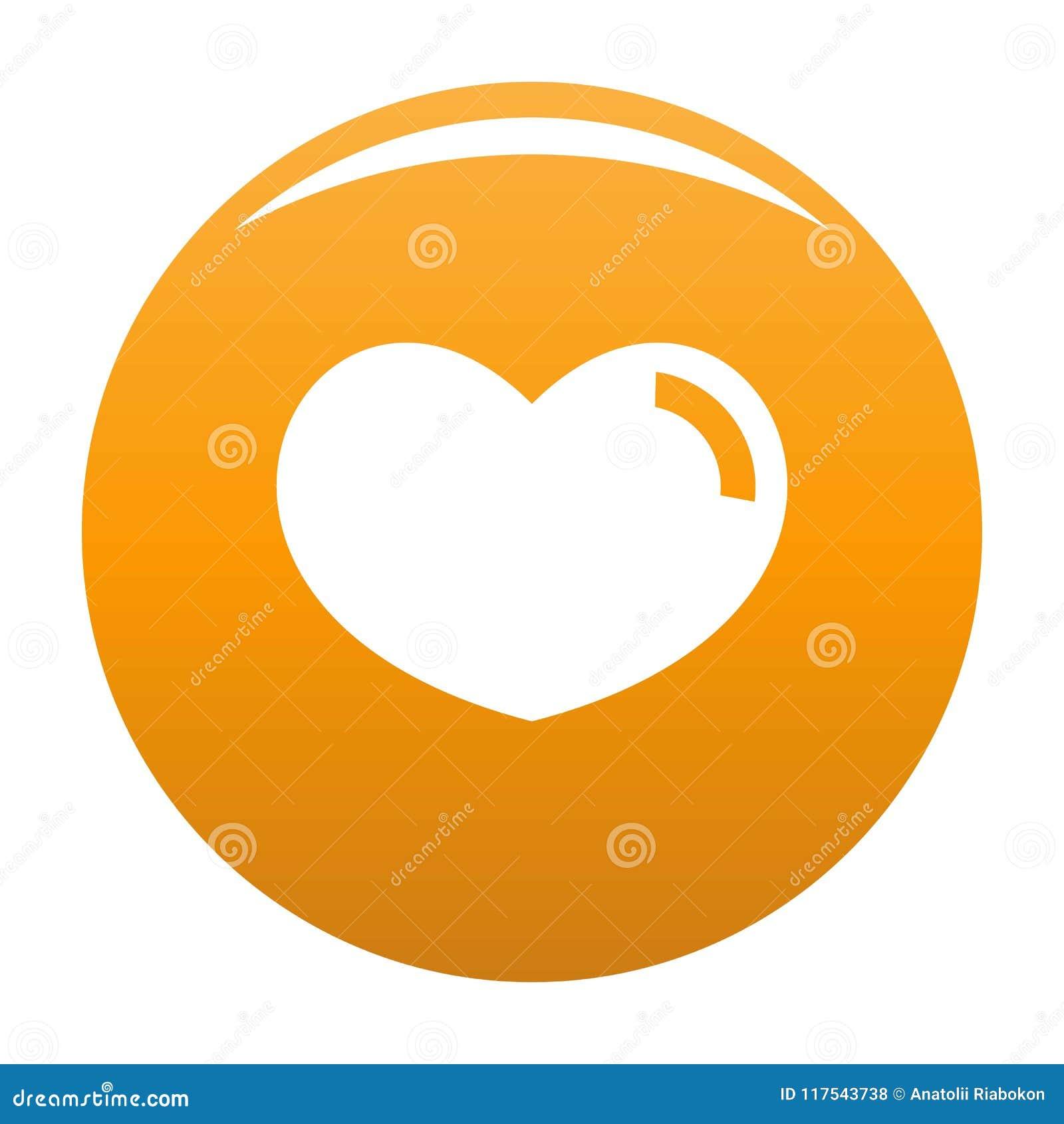 爱恋的心脏象传染媒介桔子