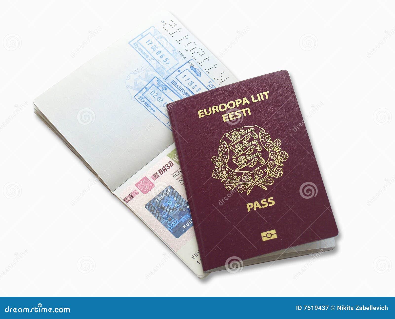 爱沙尼亚语护照俄语签证