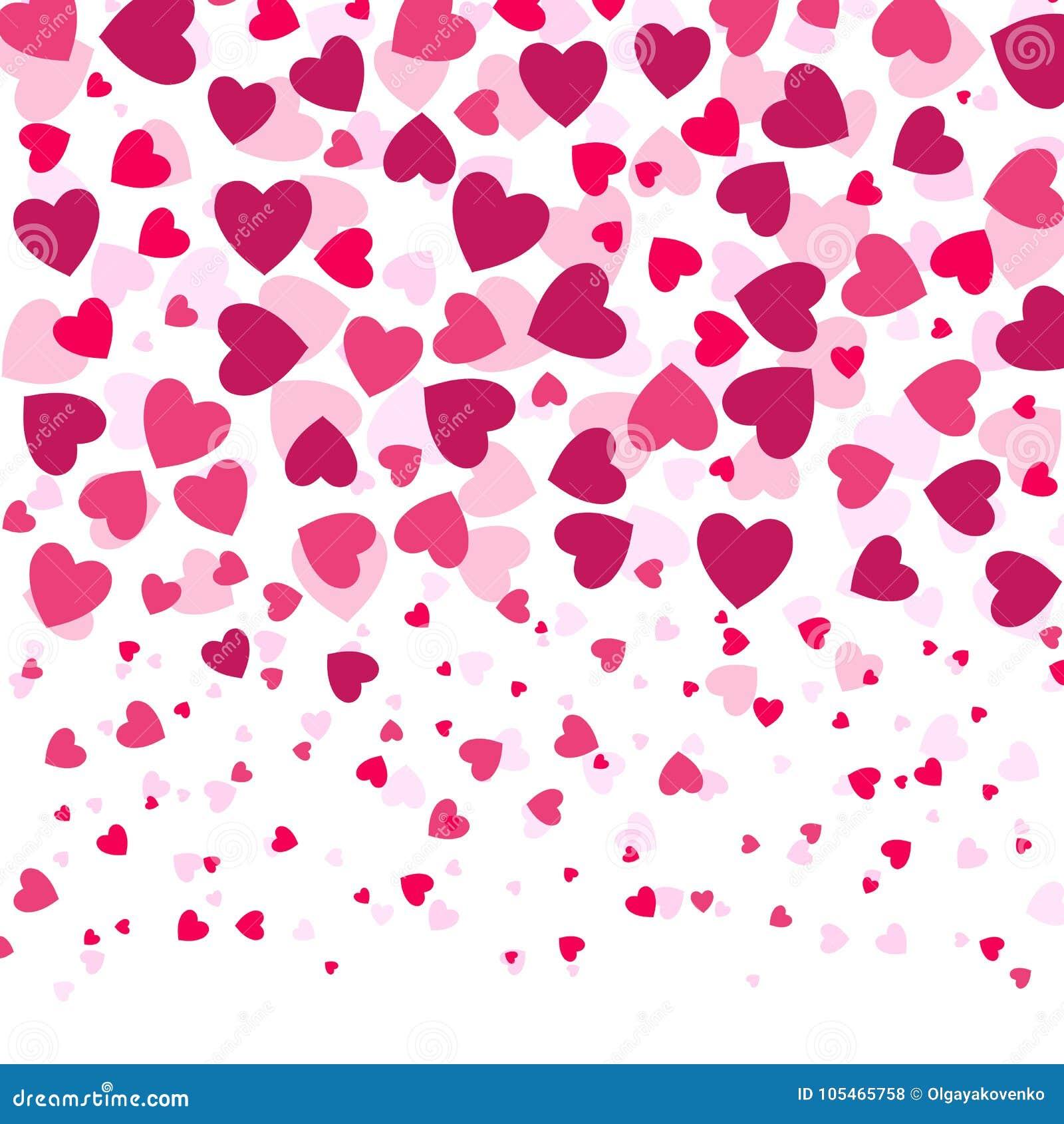 爱浪漫背景witn五颜六色的心脏,情人节样式,