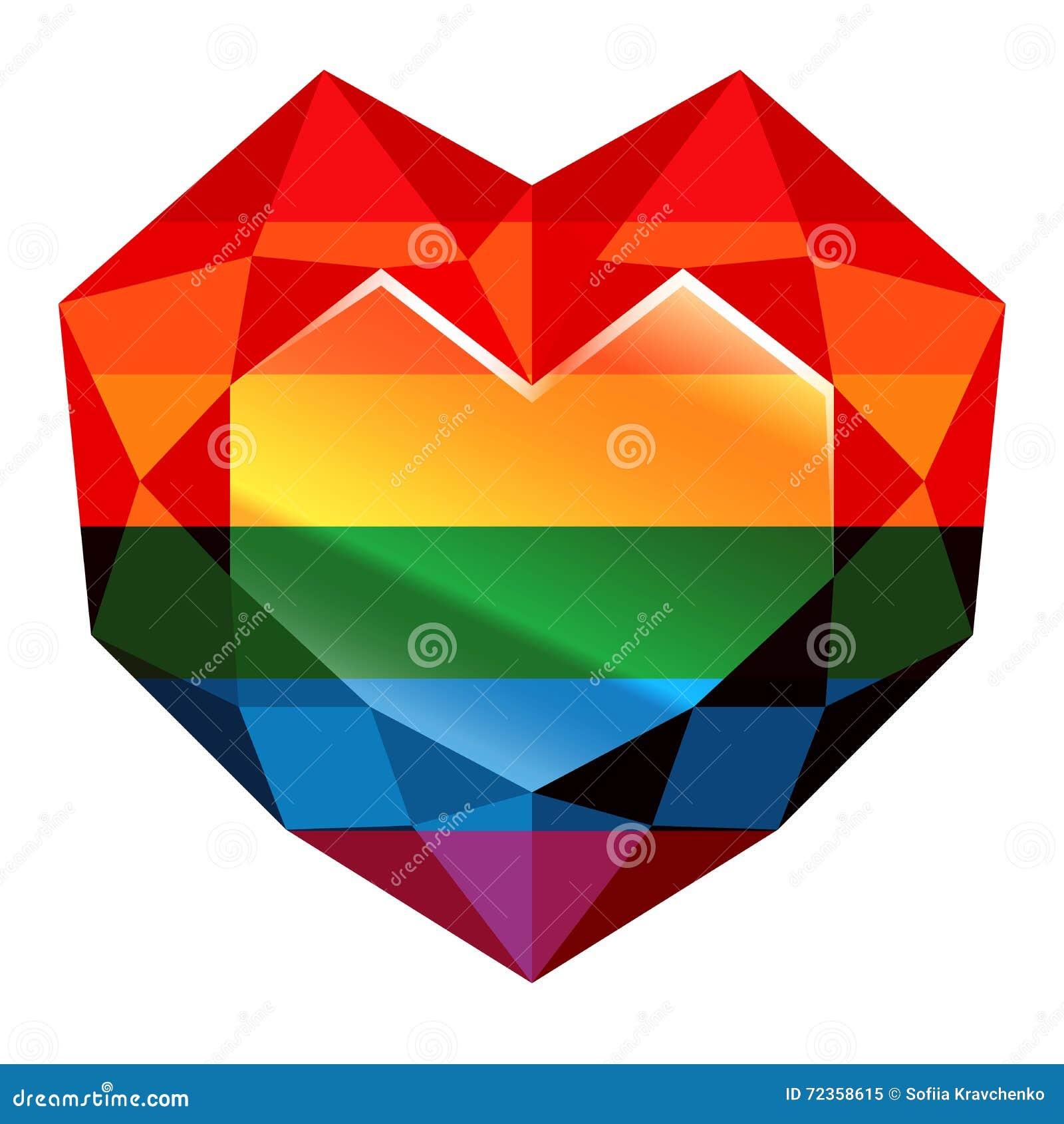 爱胜利 彩虹 心脏