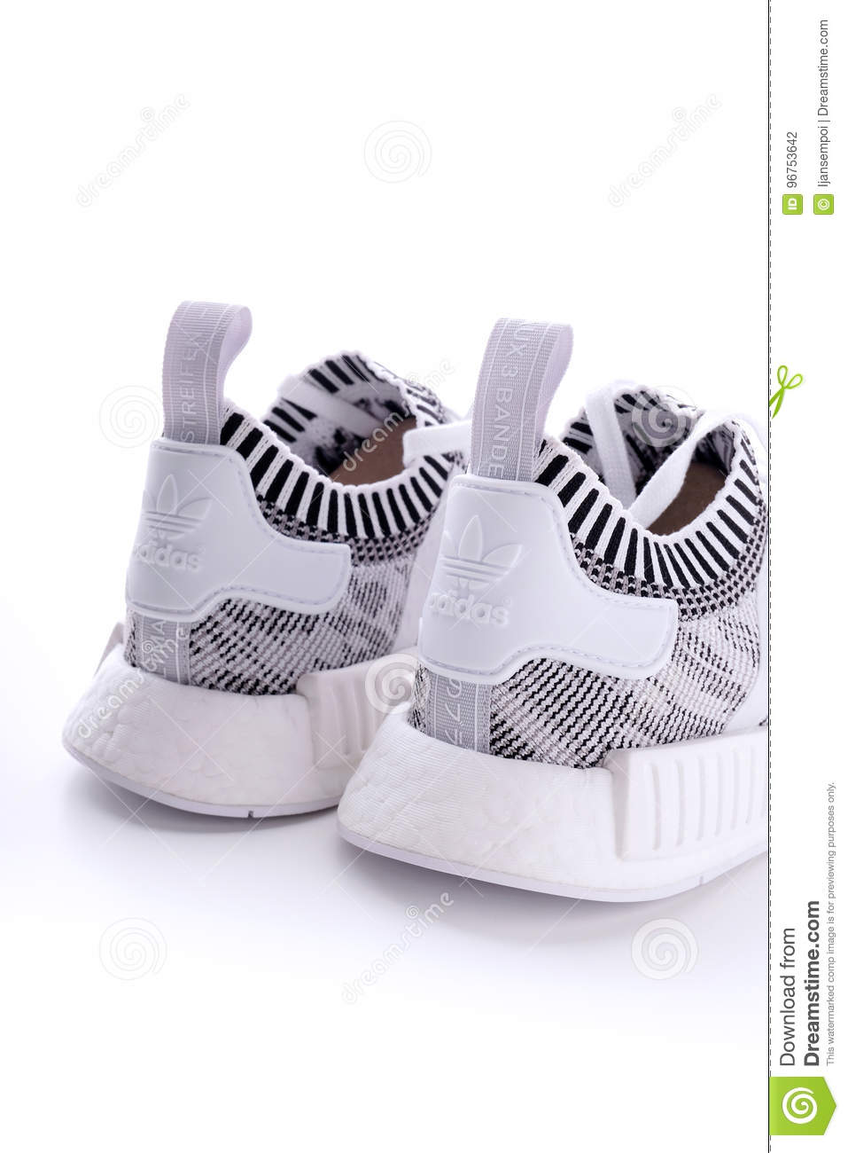 Get Nice NMD R1 Three Stripes Black White Sneakers with