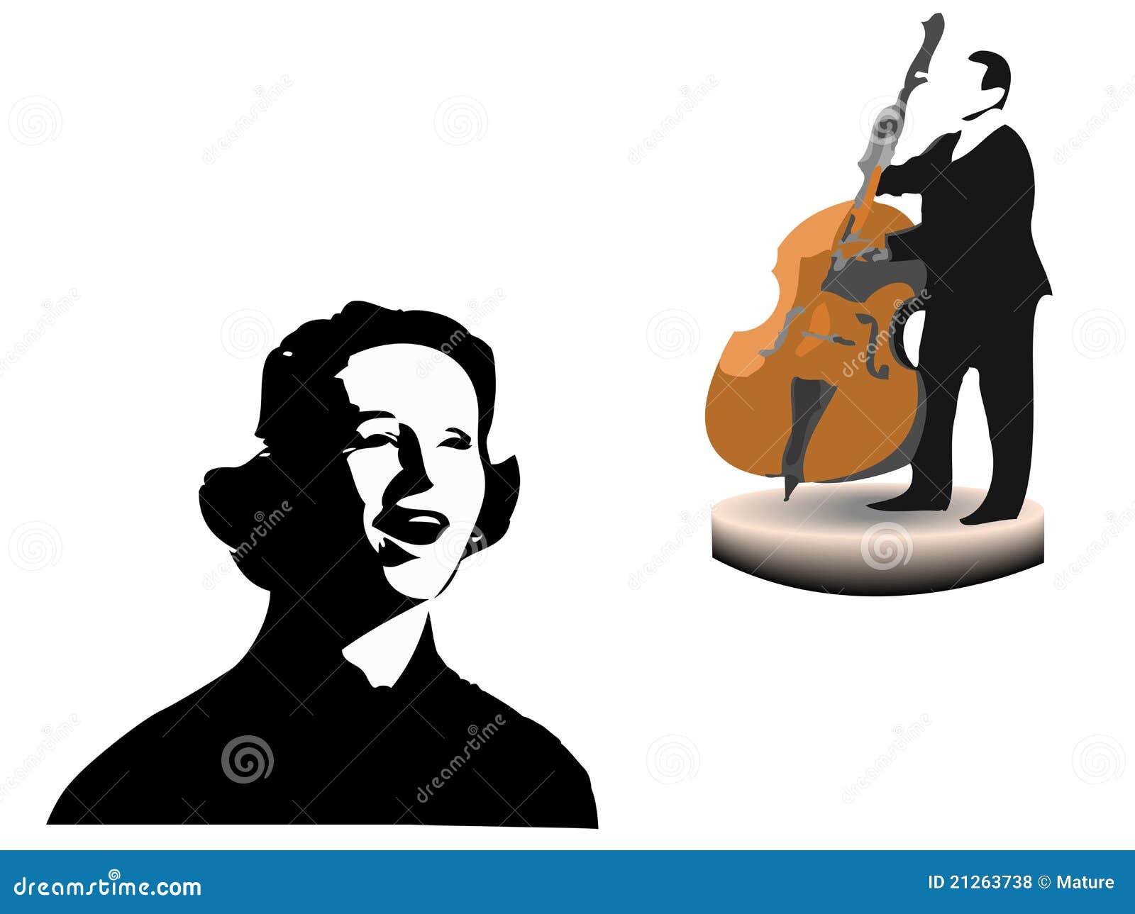 执行歌唱家歌曲白色的背景最低音爵士乐人.图片