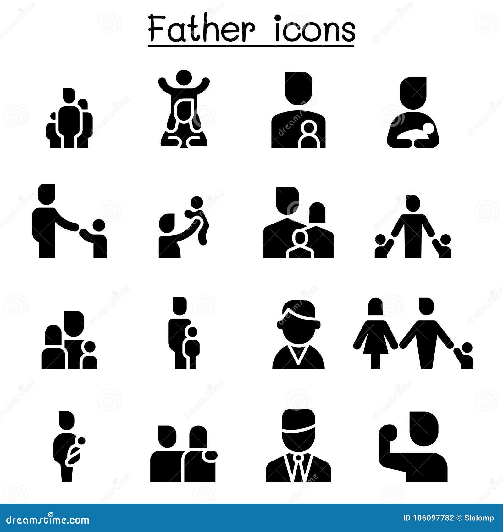 父亲象集合图形设计
