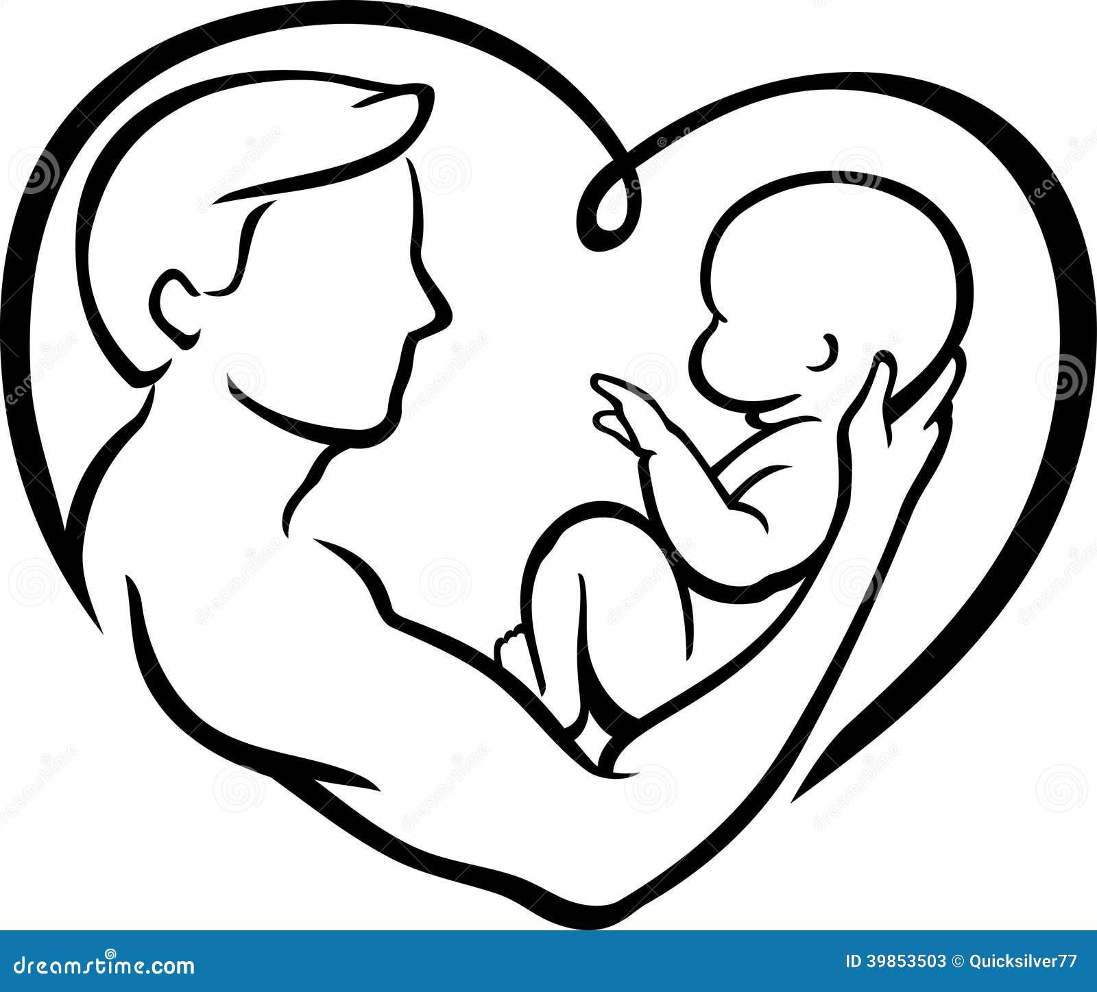 父亲的抽象例证和儿子在心脏塑造艺术品.图片