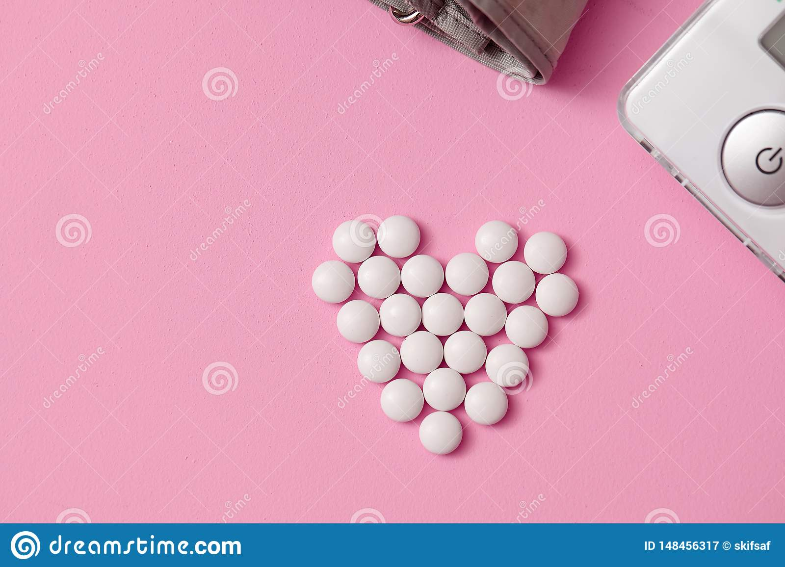 片剂被计划以心脏的形式,
