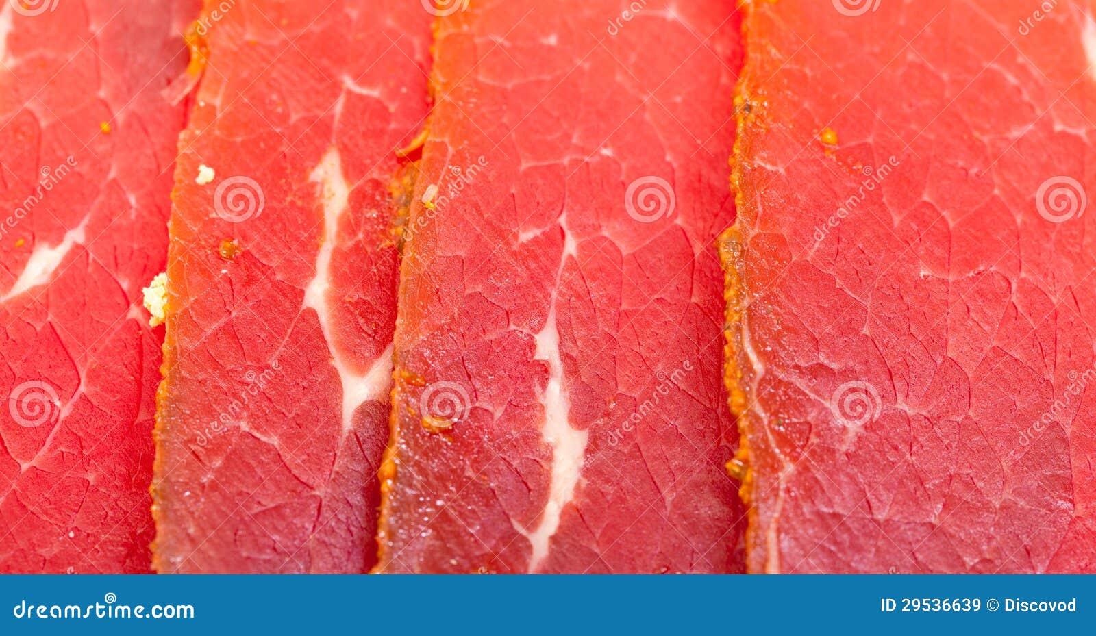 片式熏制的肉