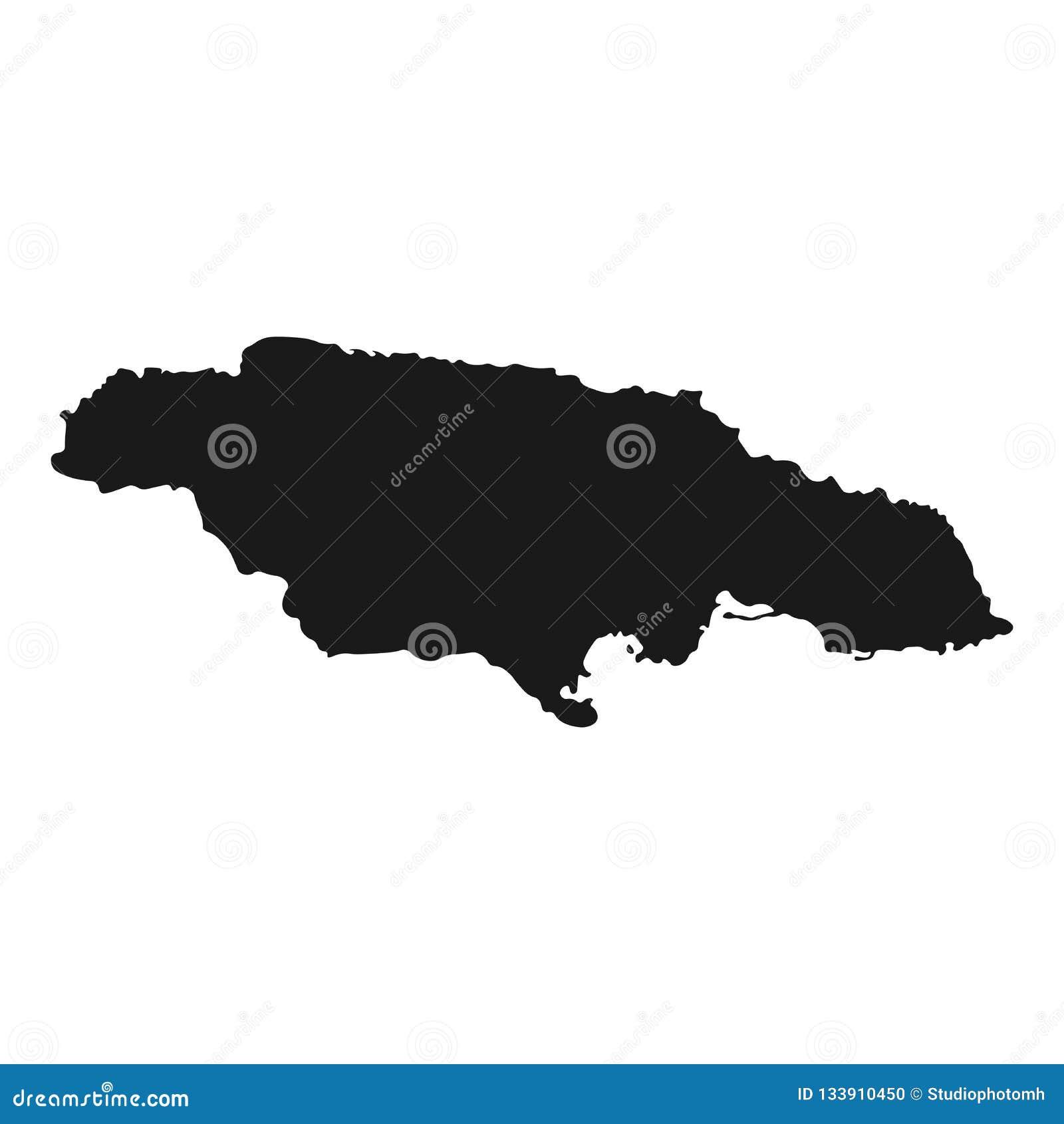 牙买加传染媒介地图 例证被隔绝的背景国家