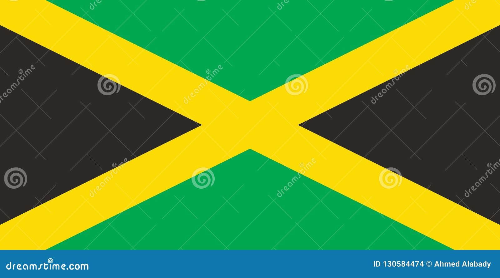 牙买加旗子,例证的传染媒介图象