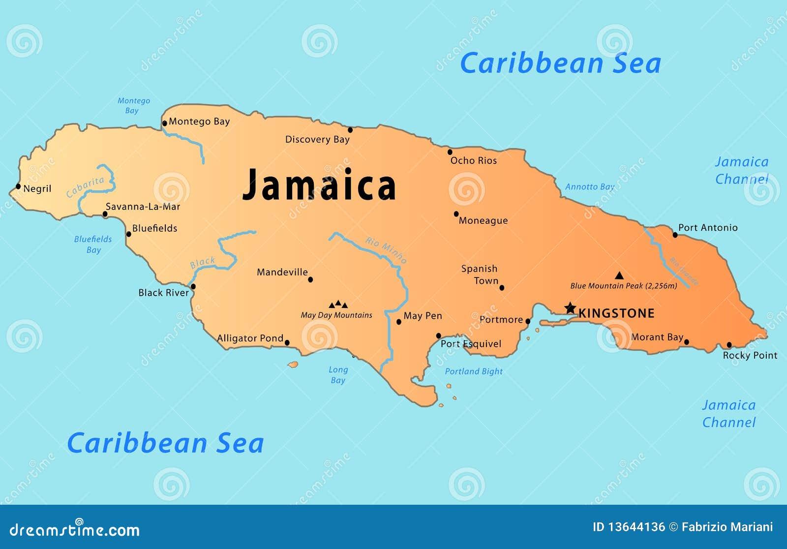 牙买加映射