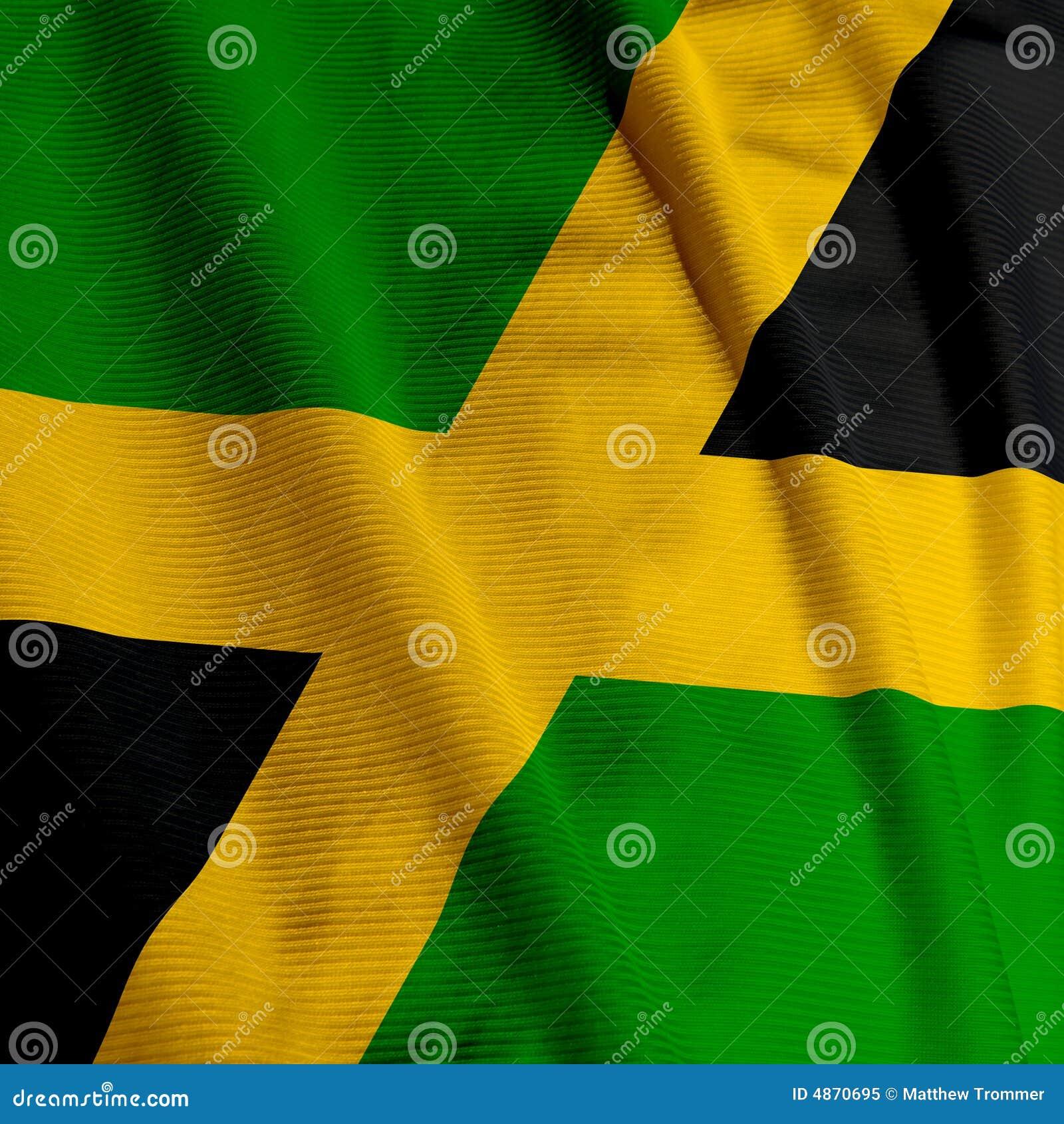 牙买加特写镜头的标志