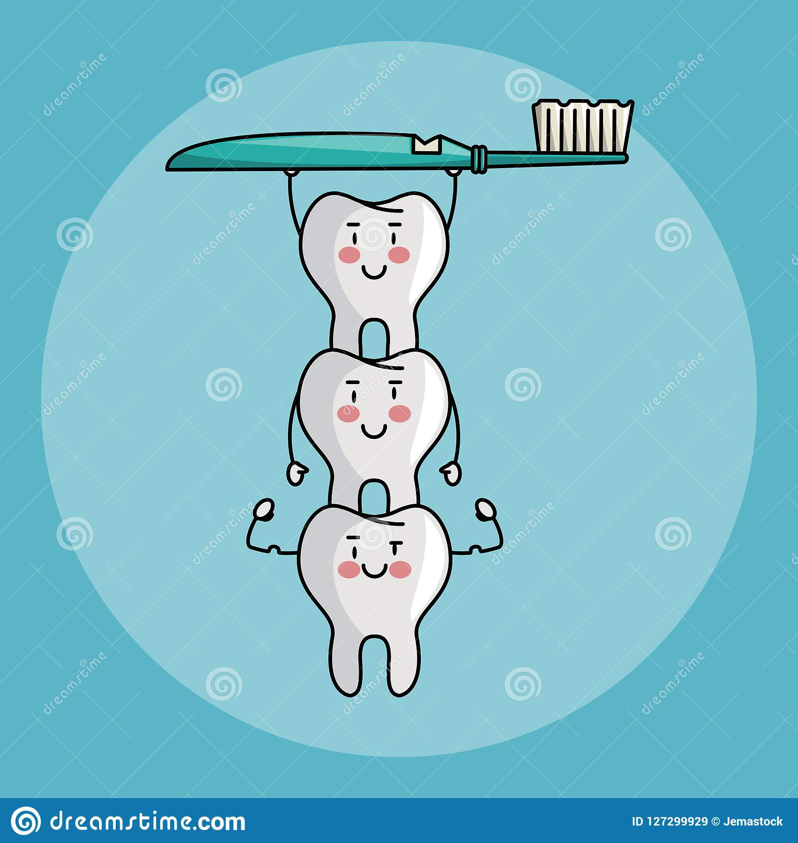 牙齿保护动画片