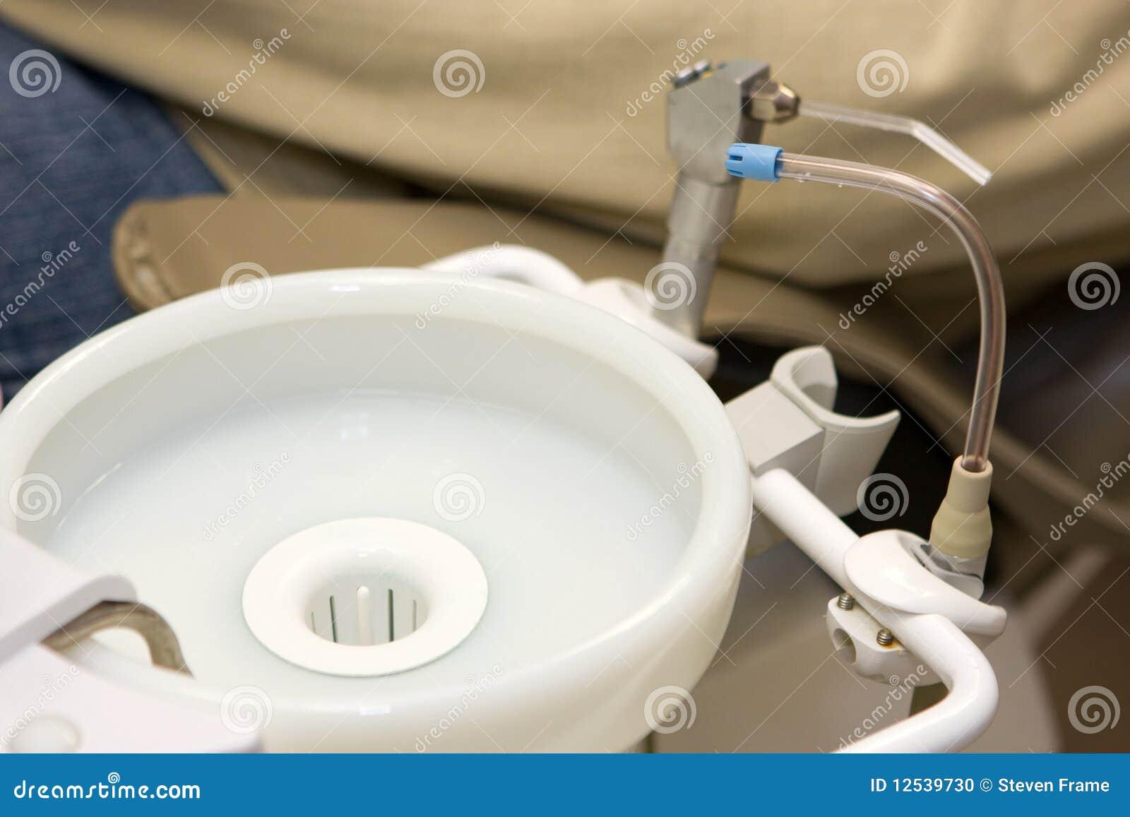 牙齿耐心的水槽分散