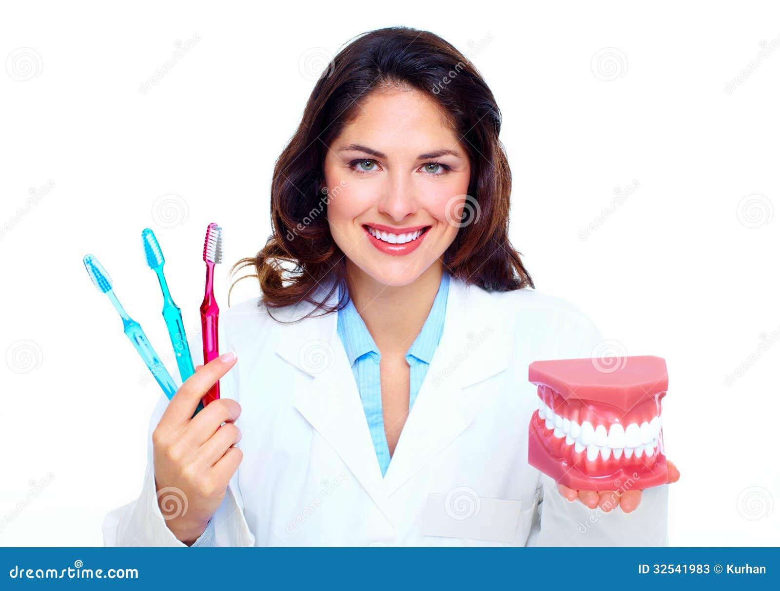 牙医妇女。