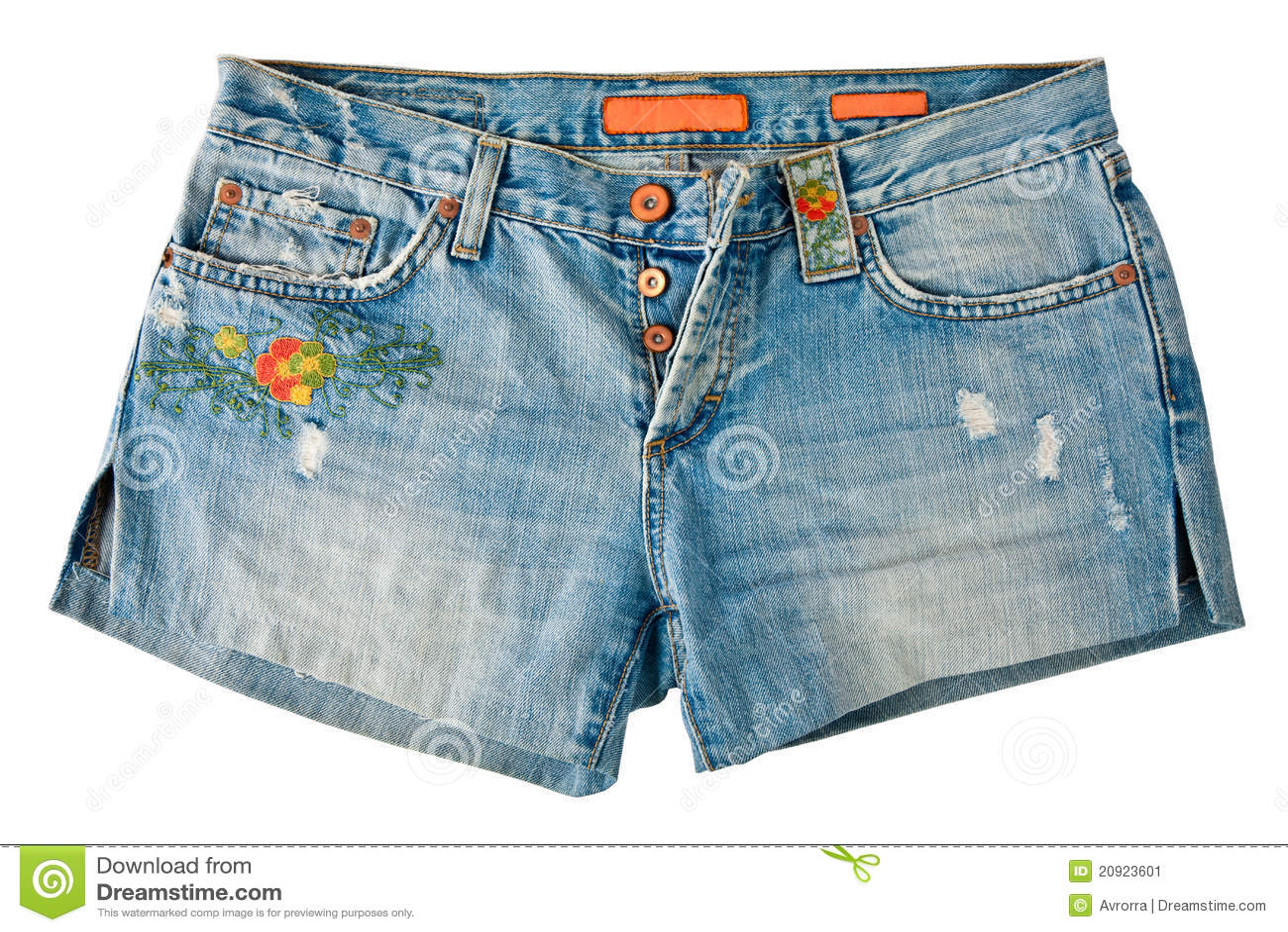 牛仔布短裤
