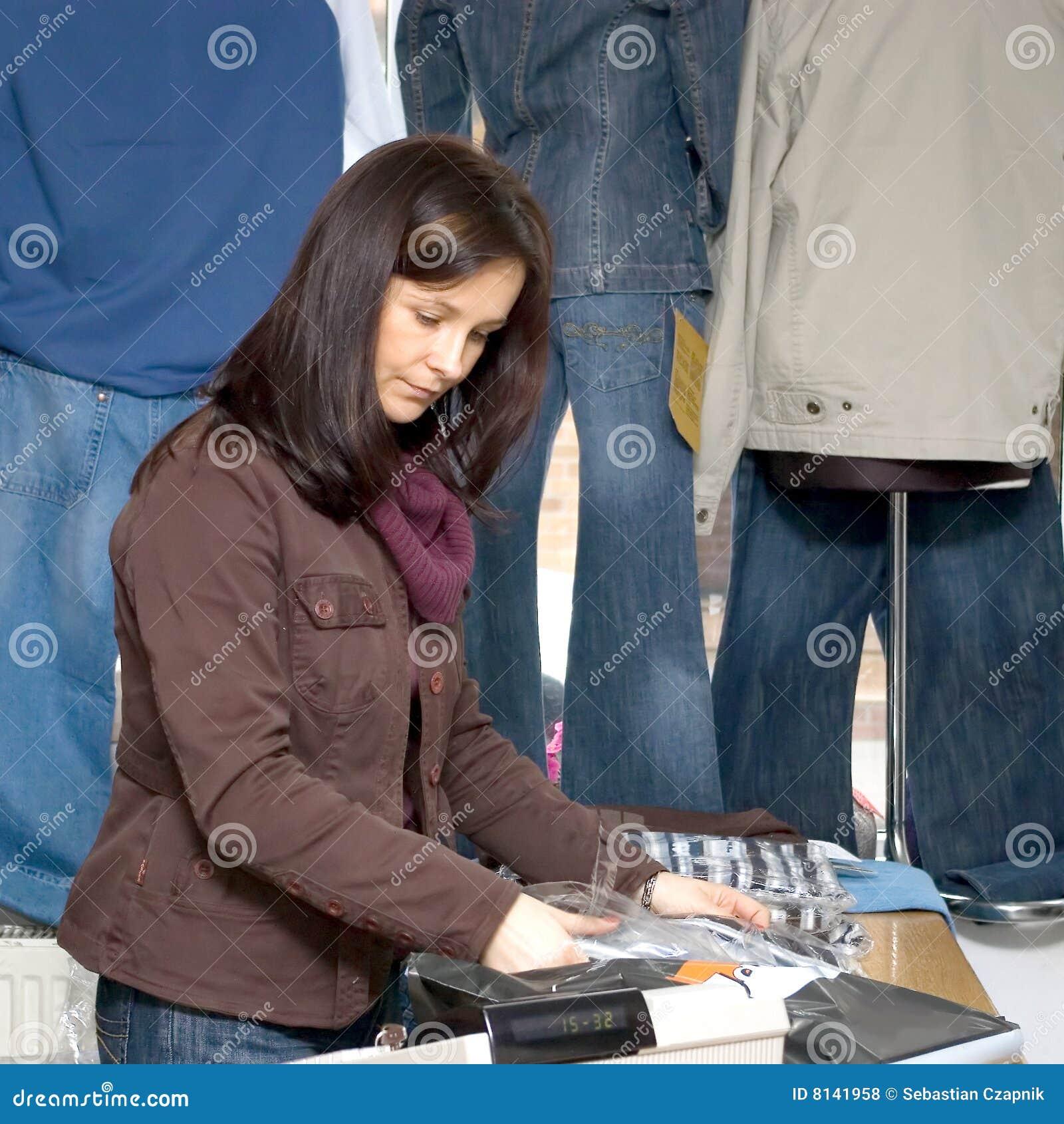 牛仔裤界面妇女