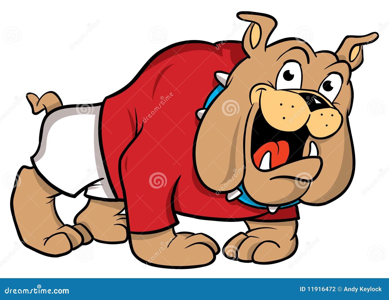 牛头犬动画片例证