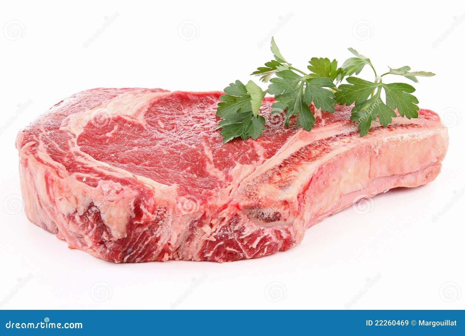 牛肉查出的原始的肋骨
