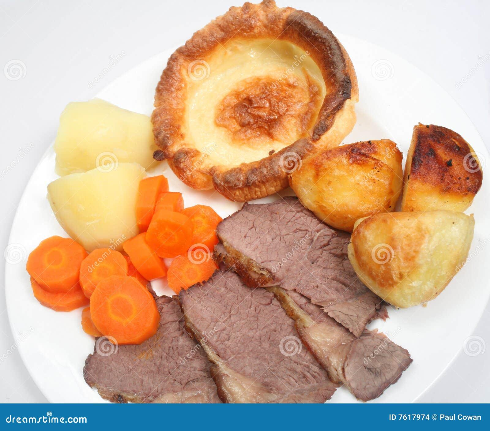 牛肉正餐烘烤