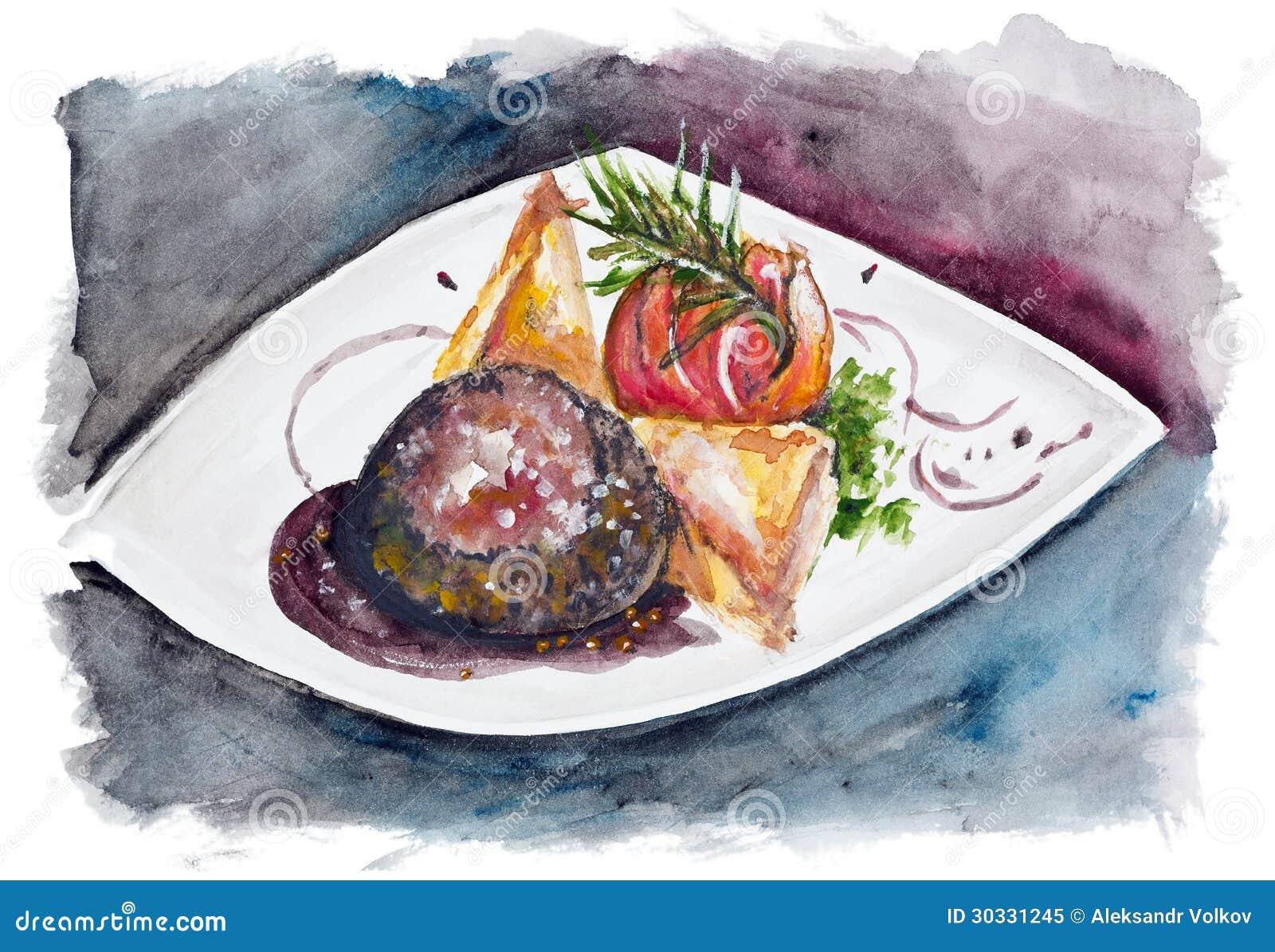从牛肉的牛排与大被隔绝的盐和胡椒